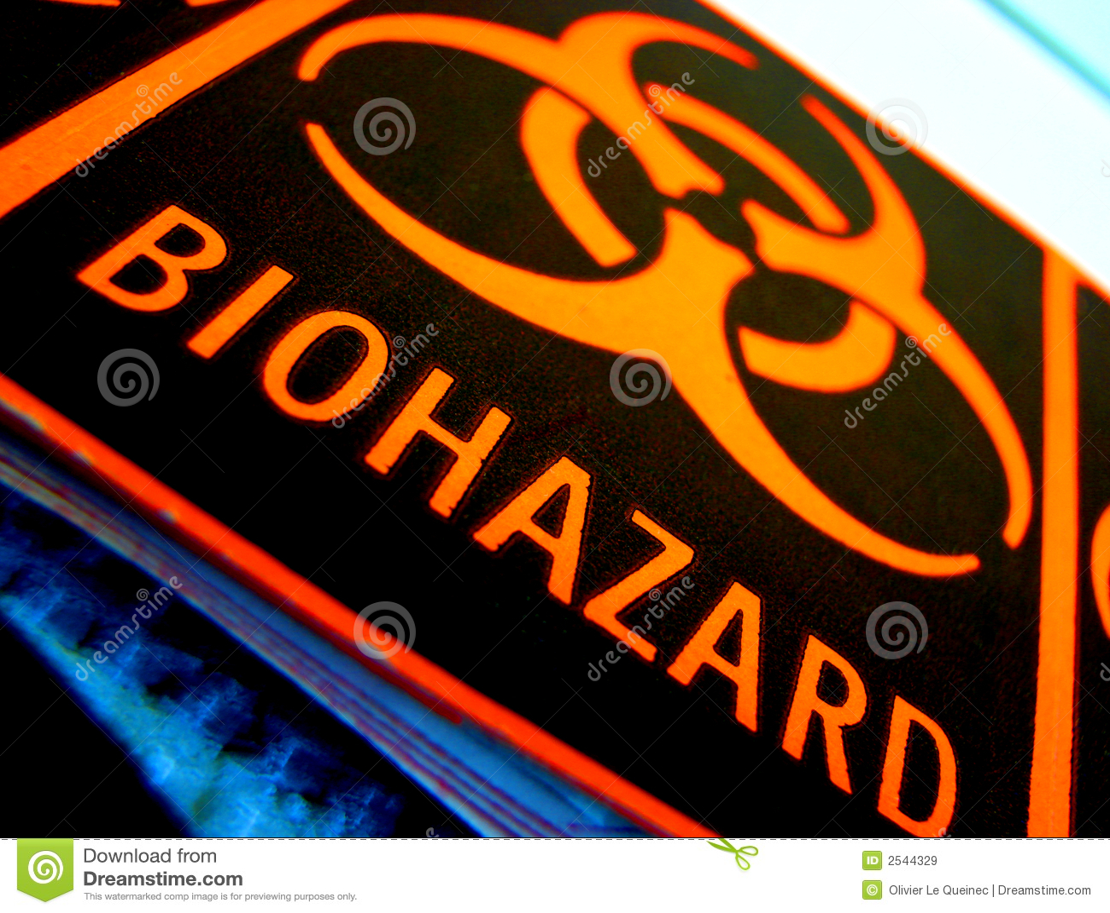 Étiquette d avertissement universelle de Biohazard de danger