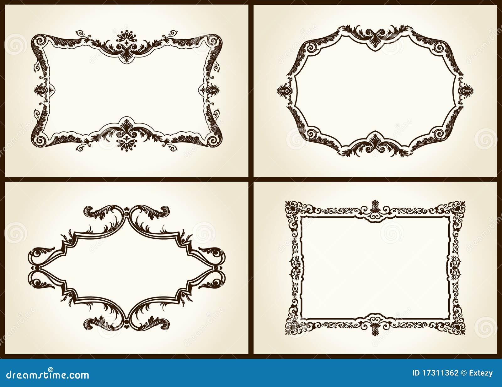 Tiquette d 39 ornement de trames de conception de cru de - Etiquette plan de table a imprimer gratuit ...