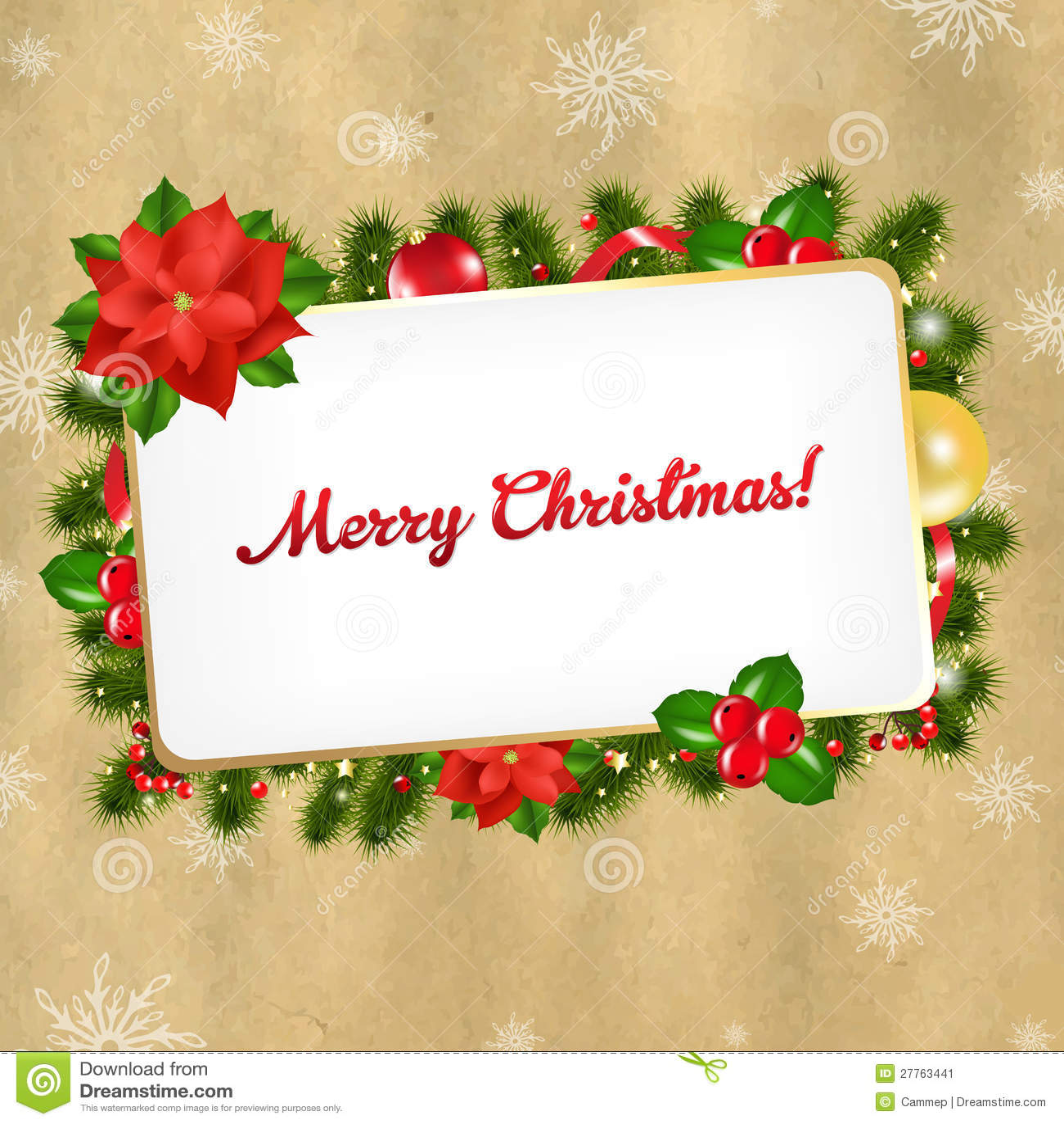 Étiquette de cadeau de blanc de cru de Noël
