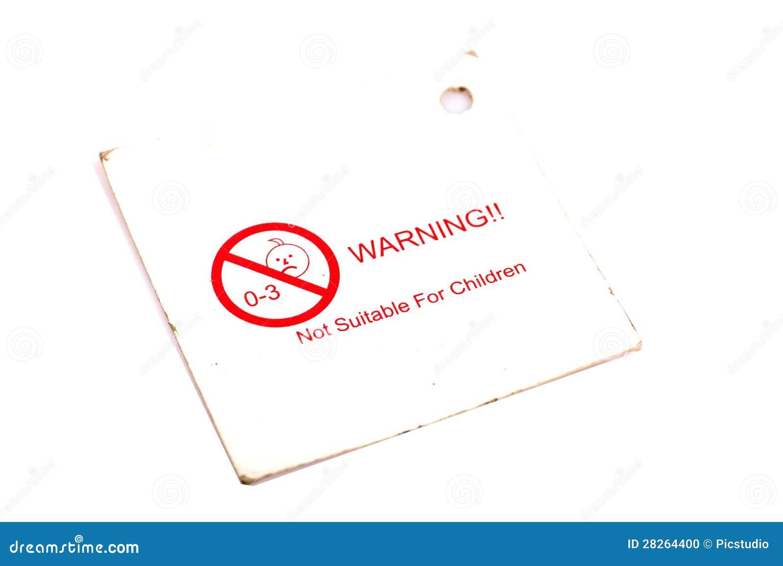 Étiquette de mise en garde