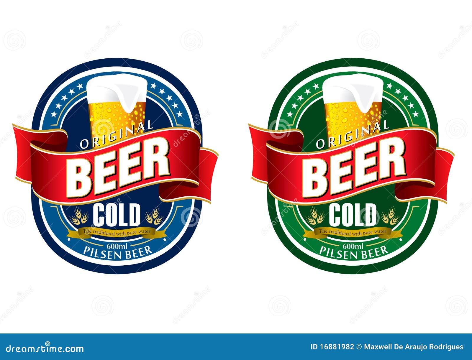Étiquette générique de bière