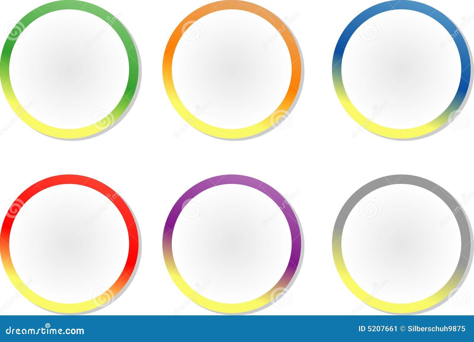Étiquettes/collants cercle-formés colorés