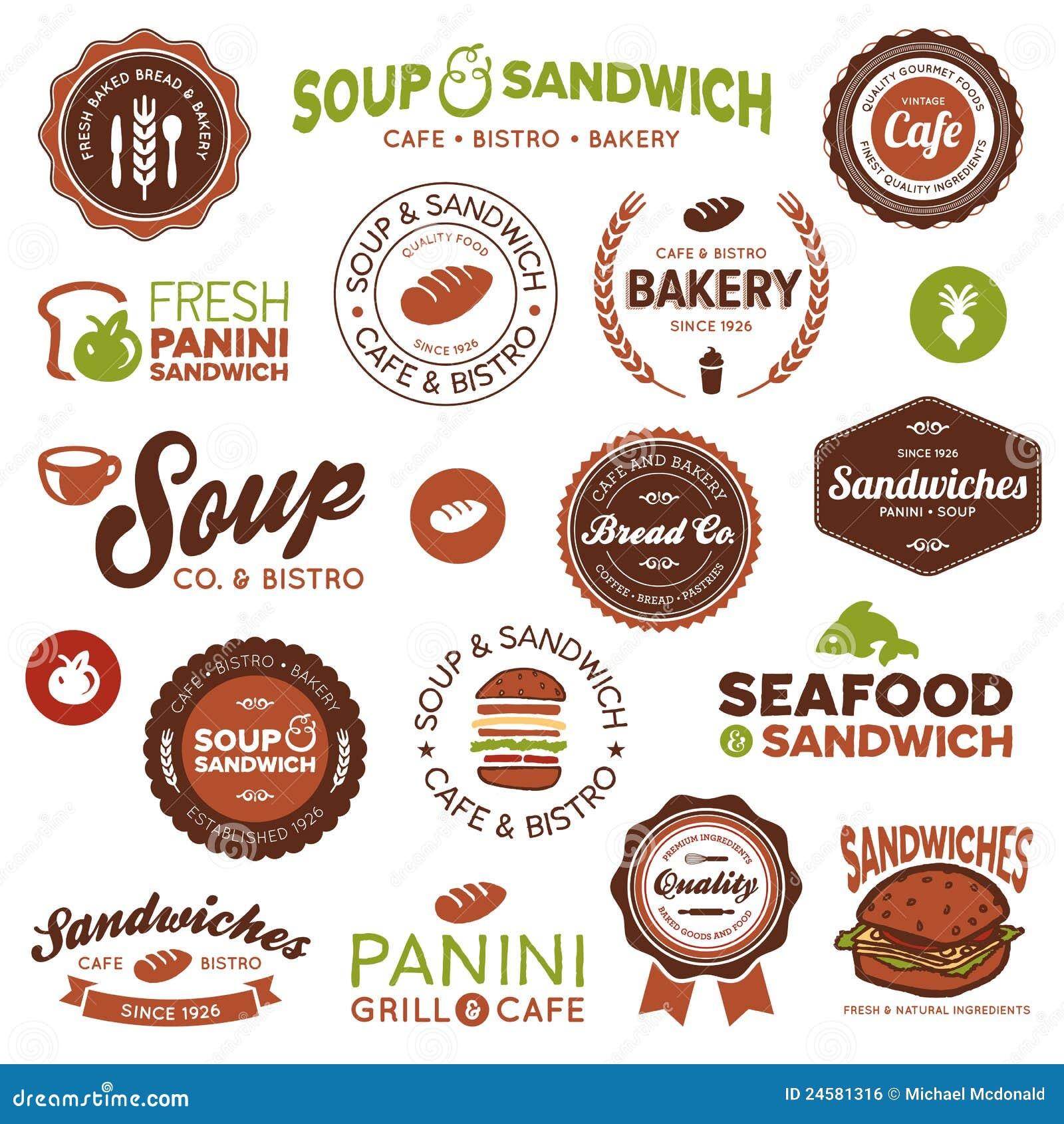 Étiquettes de Bistros de sandwich