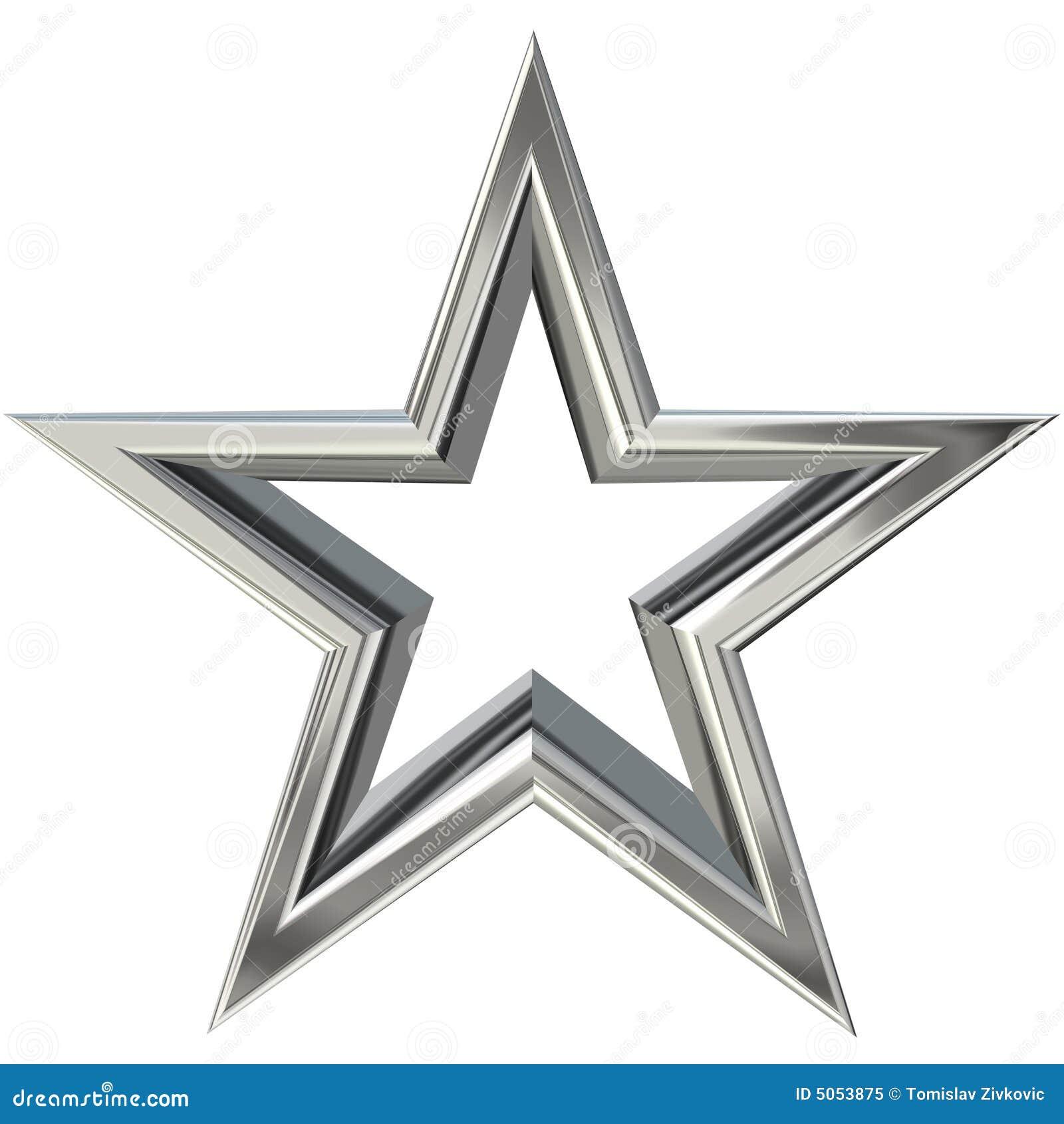 étoile 3d Argentée Illustration Stock Illustration Du Isolement