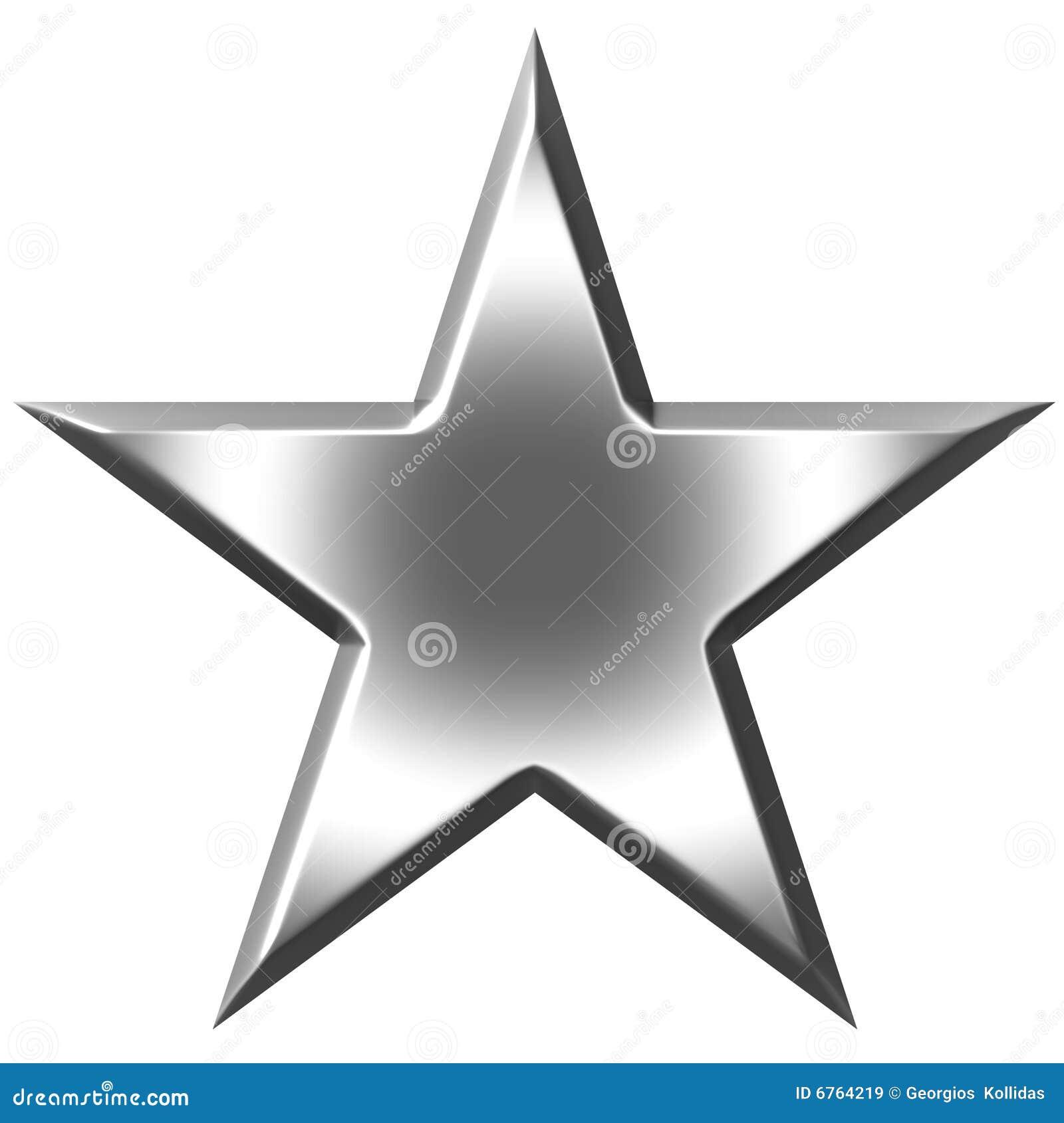 étoile 3d Argentée Illustration Stock Illustration Du Faisceau
