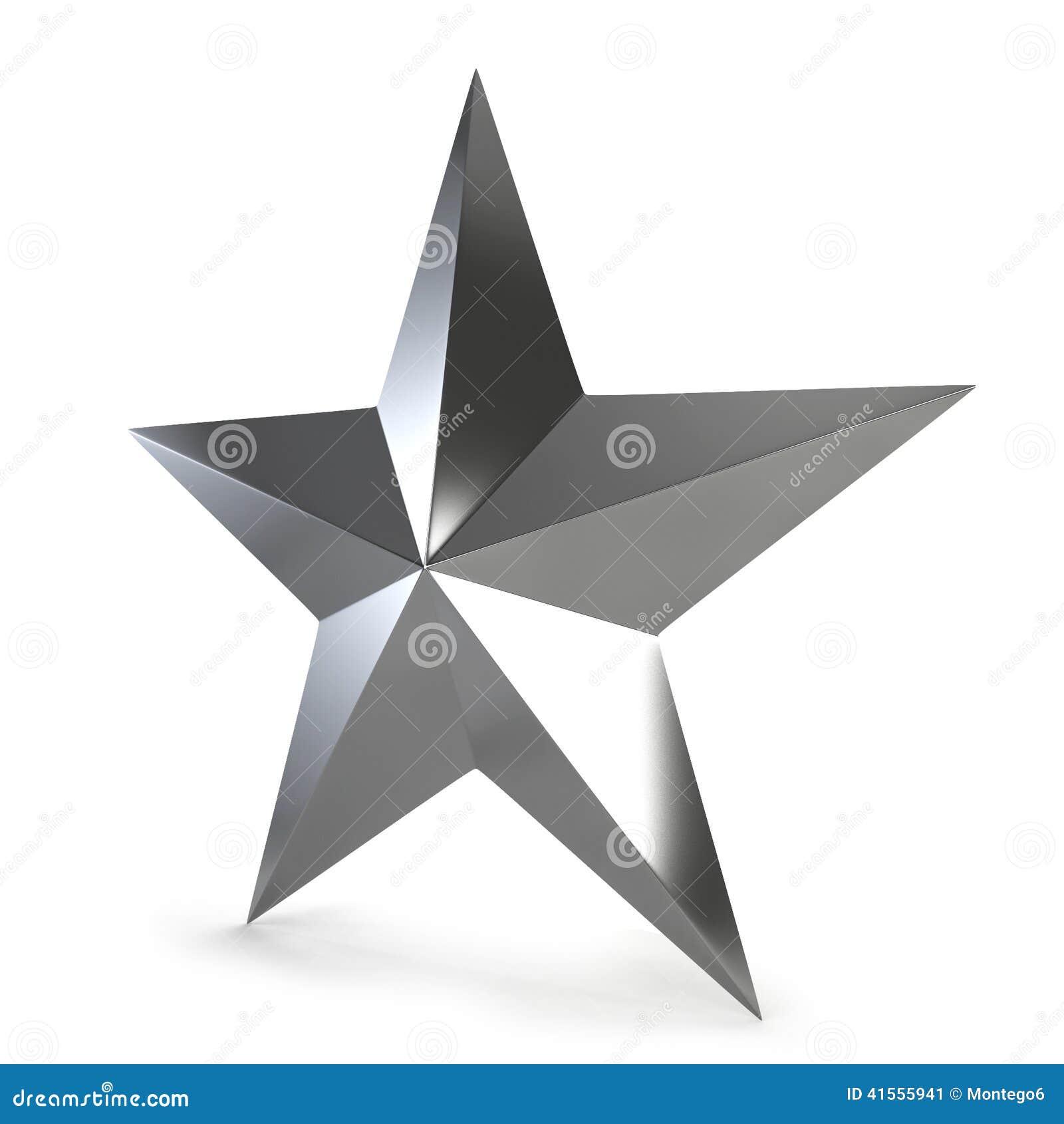 étoile Argentée Illustration Stock Illustration Du Simple 41555941