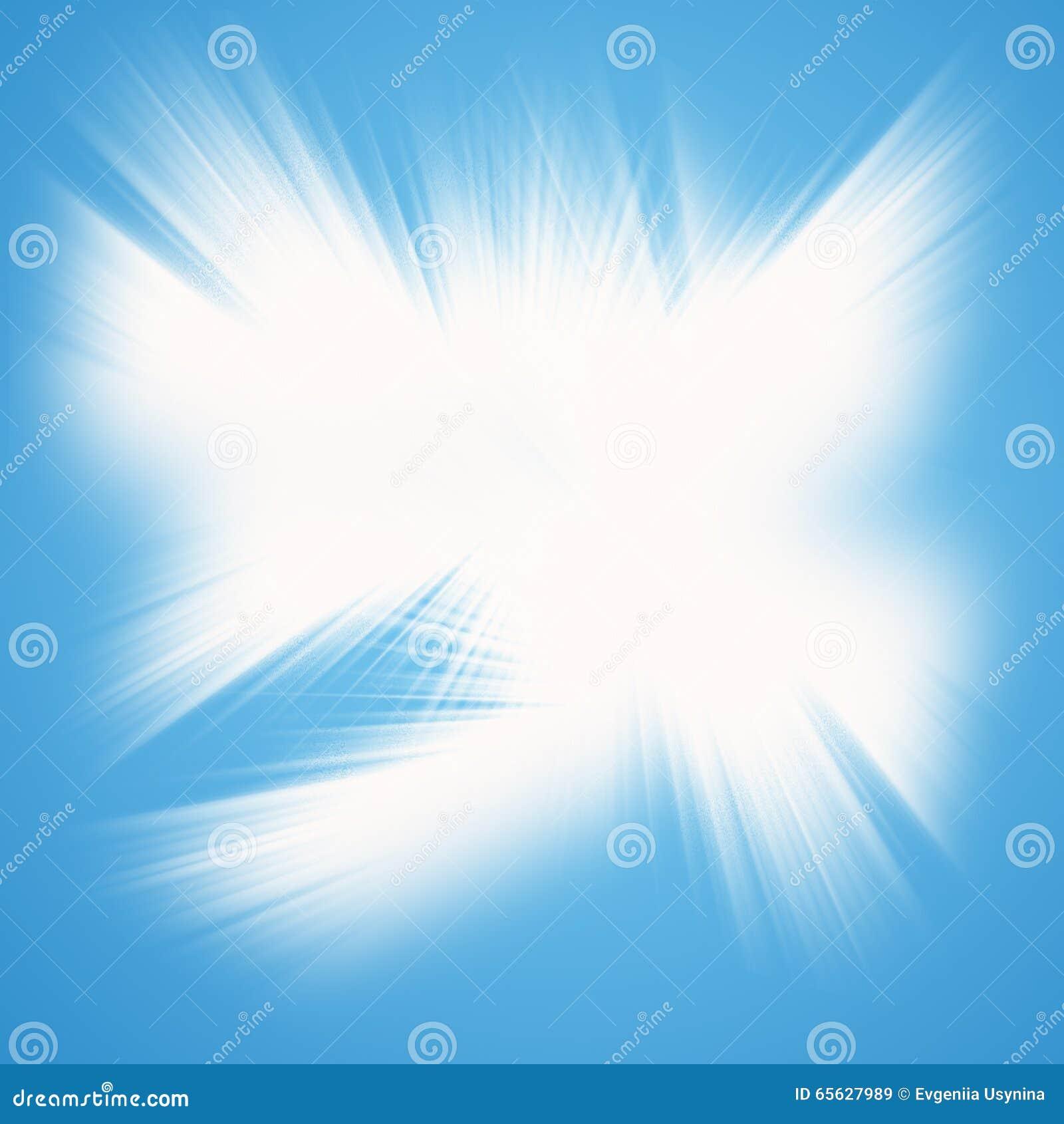 Étoile congelée ou une lueur pour le fond