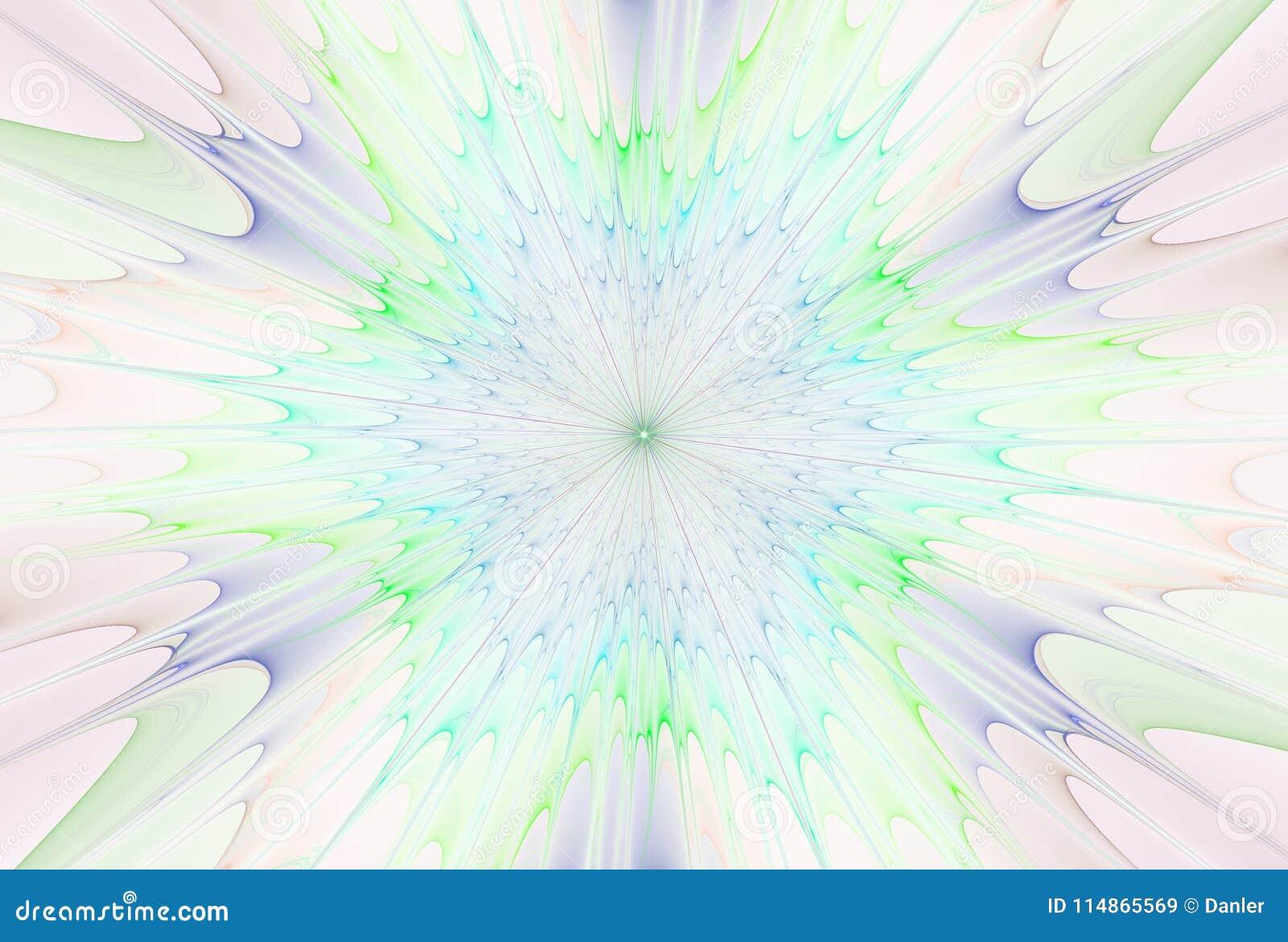 Étoile d explosion de fractale avec le lustre et les lignes