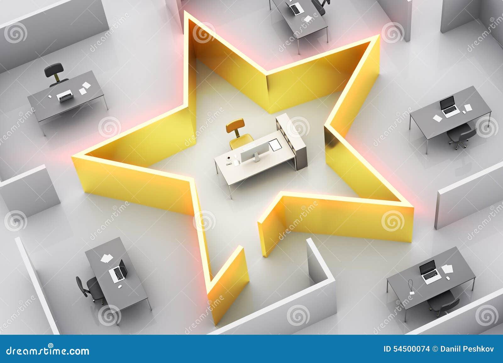 Étoile de bureau photo stock image du neuf meubles