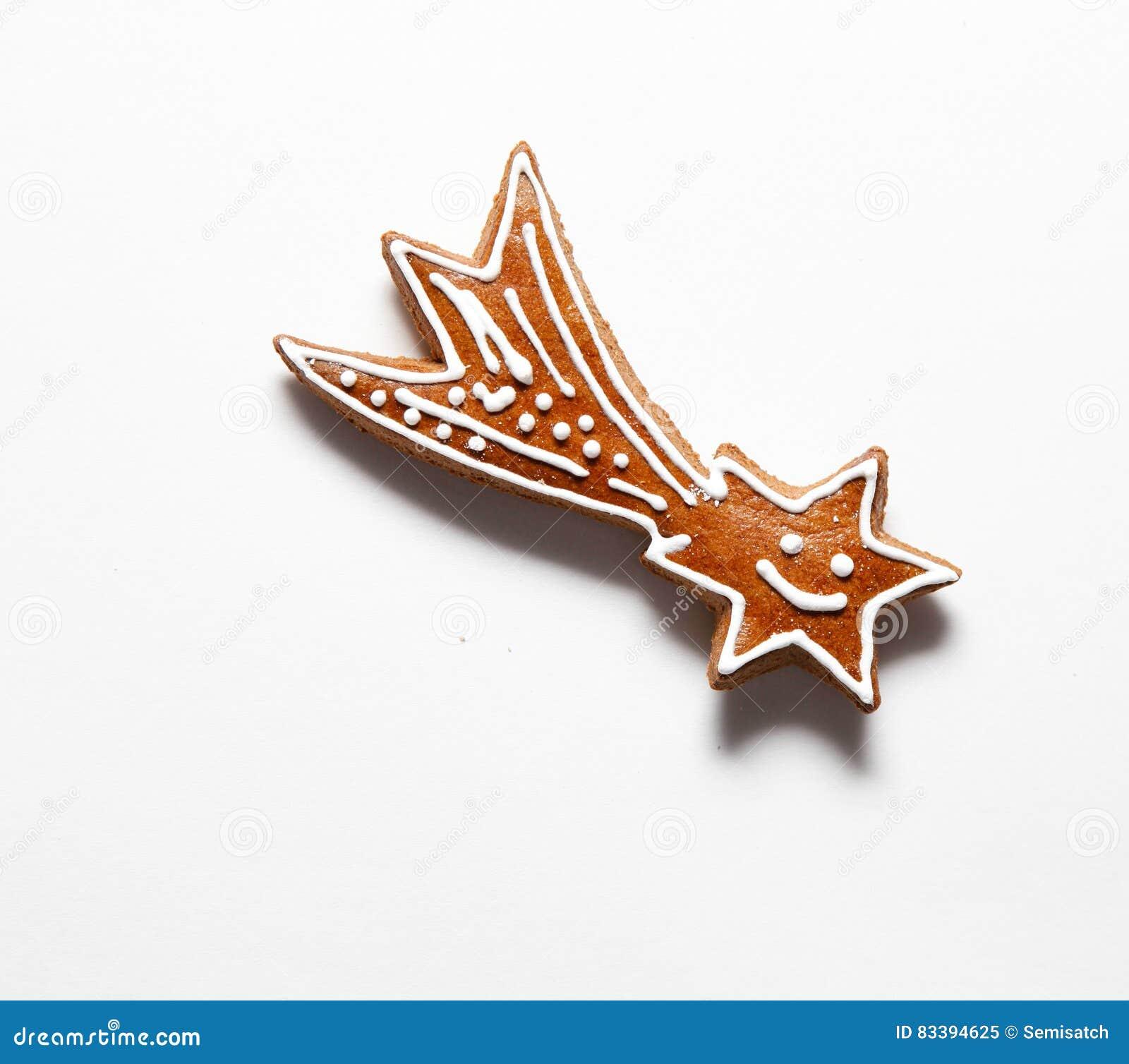 Étoile de chute concept de Noël de comète Biscuits de pain d épice