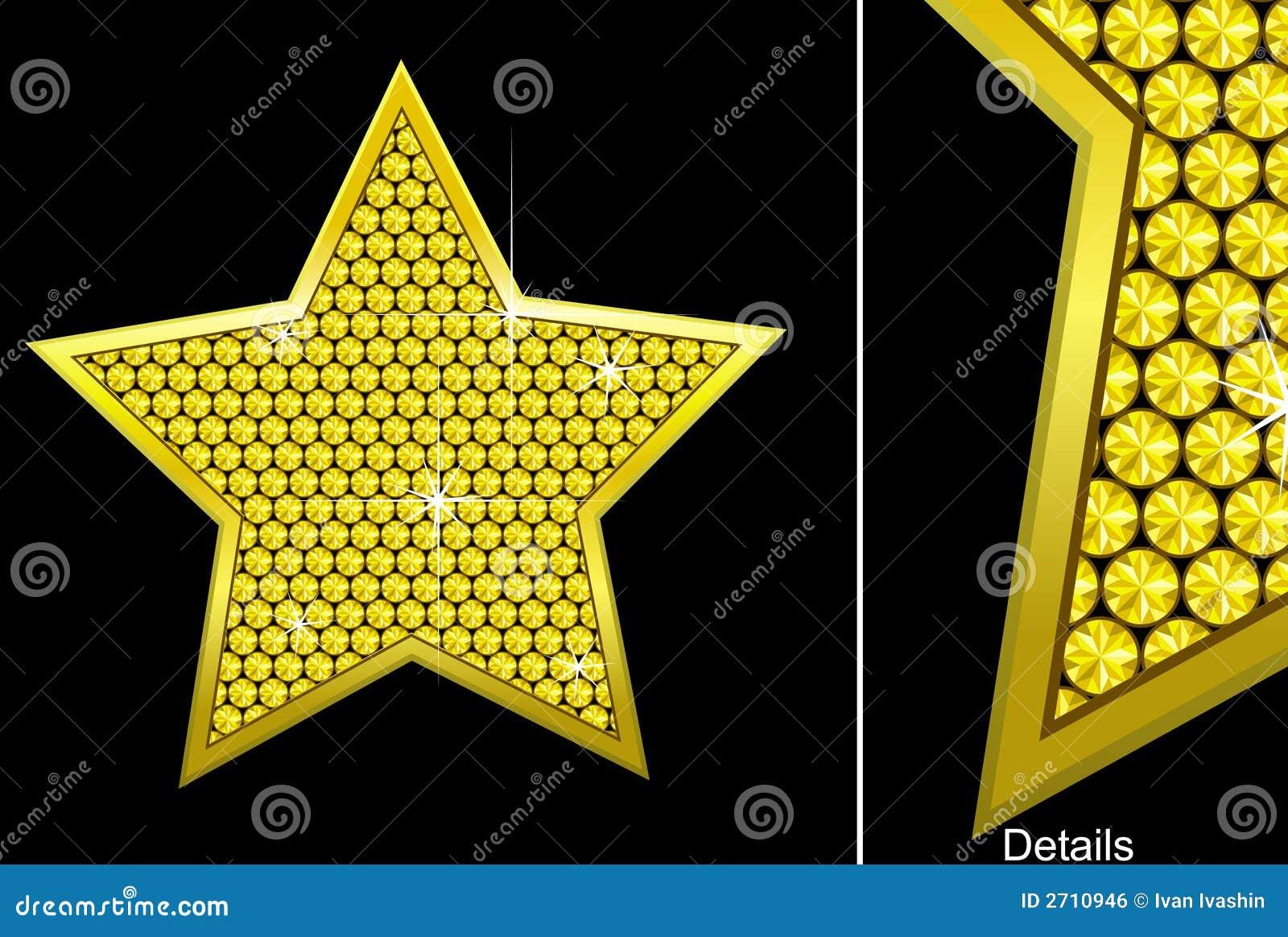 Étoile de diamant de vecteur