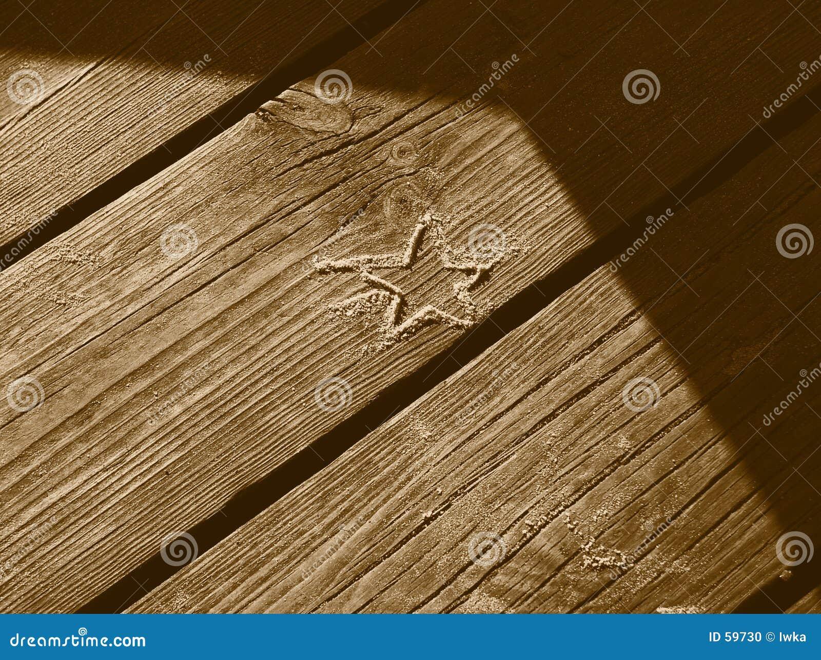 Download Étoile de sable photo stock. Image du ligne, wooden, stars - 59730