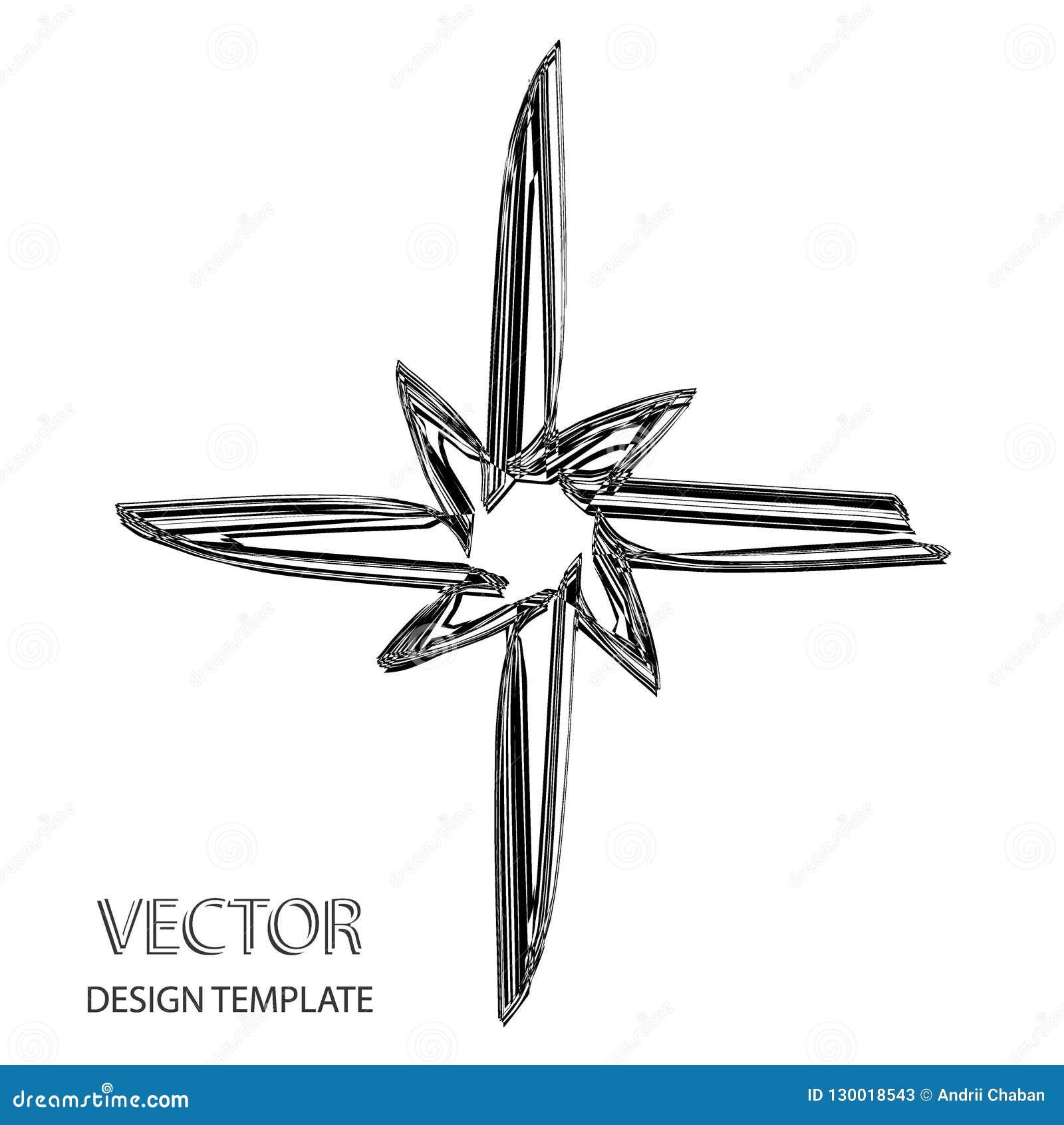 Étoile de vecteur Rétro étoile Fond d étoile Étoile noire Signe d étoile Symbole d étoile Logo d étoile Étoile en verre vert de v