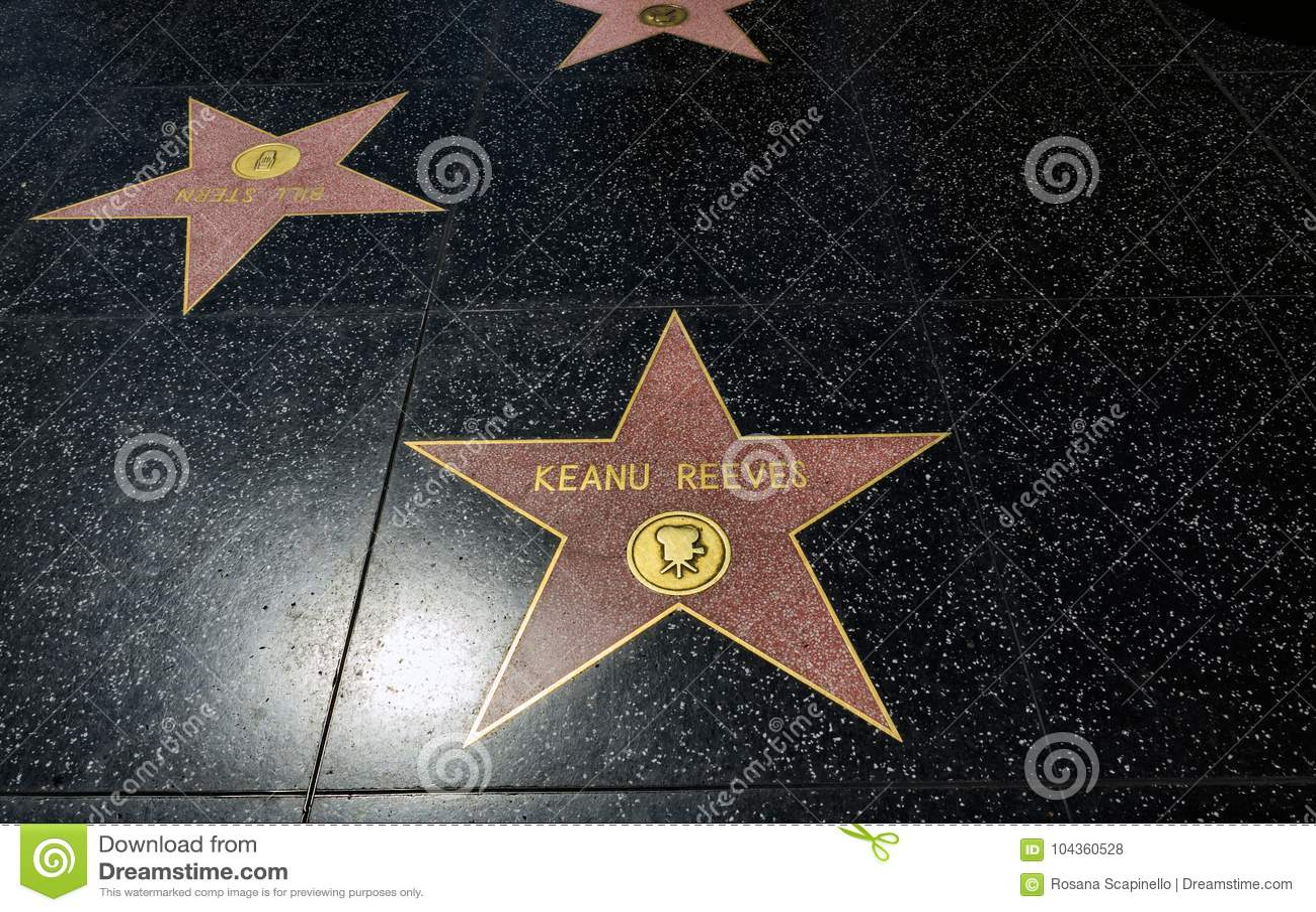 Étoile du ` s de Keanu Reeves, promenade de Hollywood de la renommée - 11 août 2017 - Hollywood Boulevard, Los Angeles, la Califo