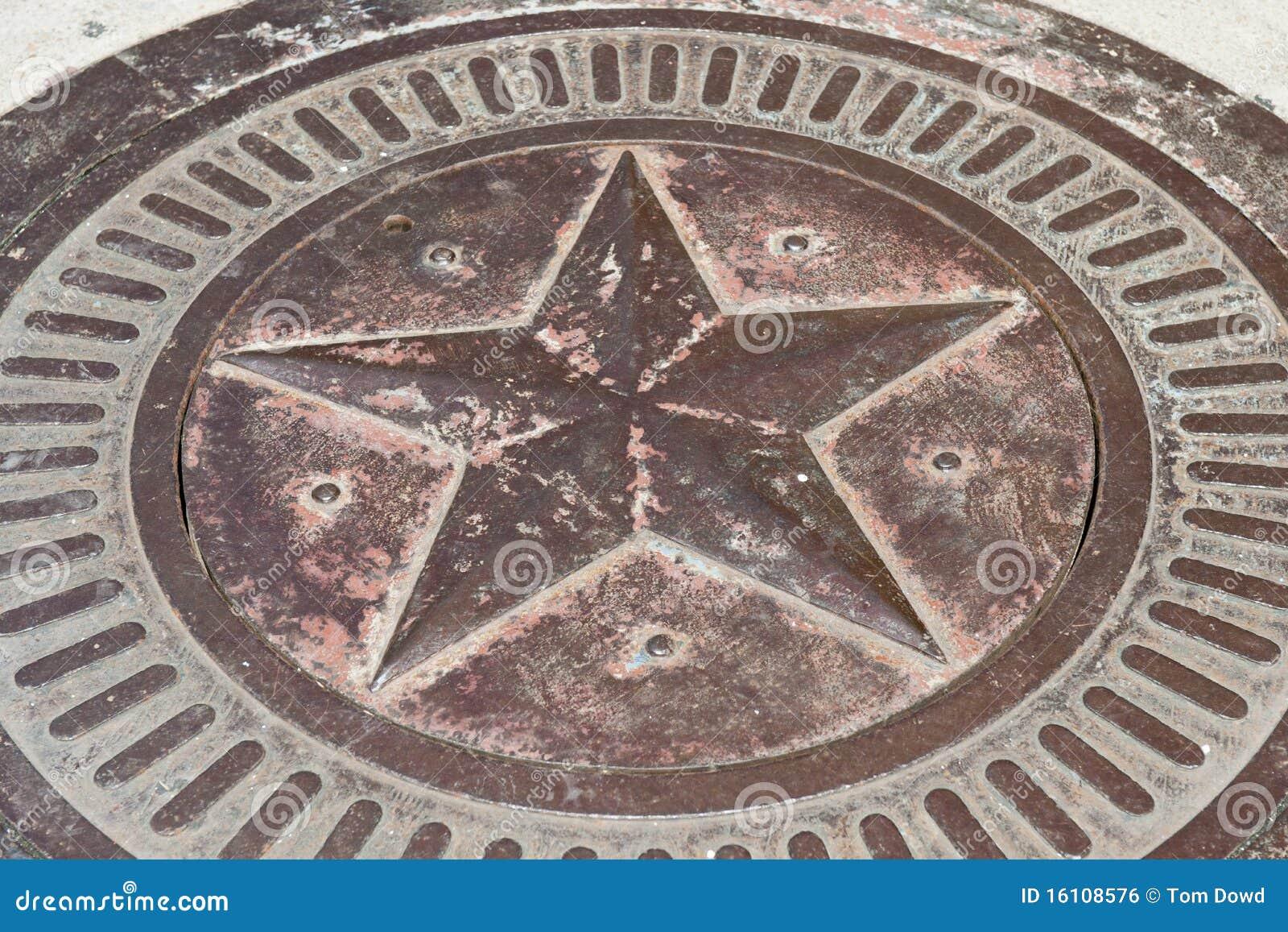 Étoile en bronze avec la patine