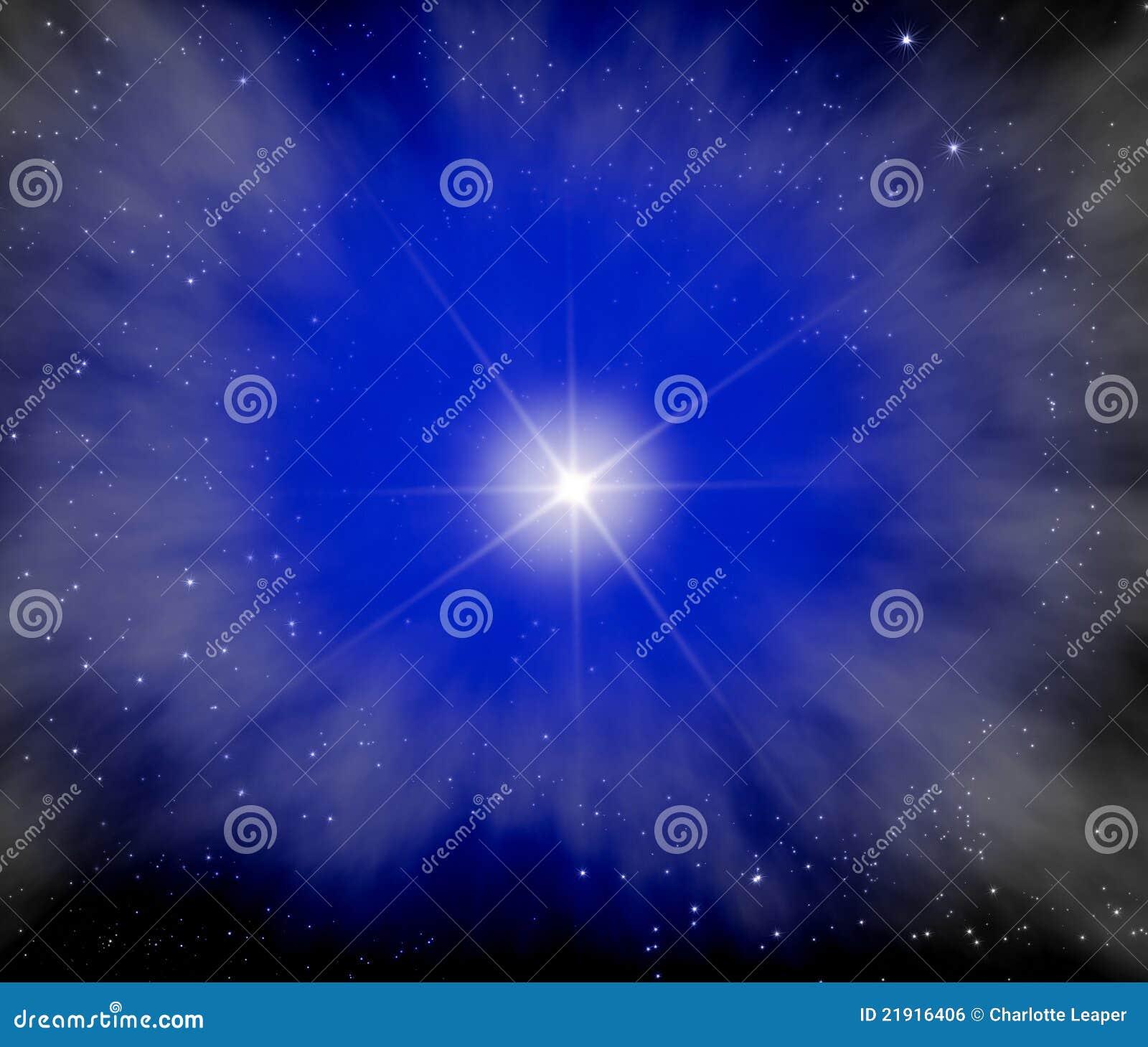 Étoile lumineuse dans la galaxie