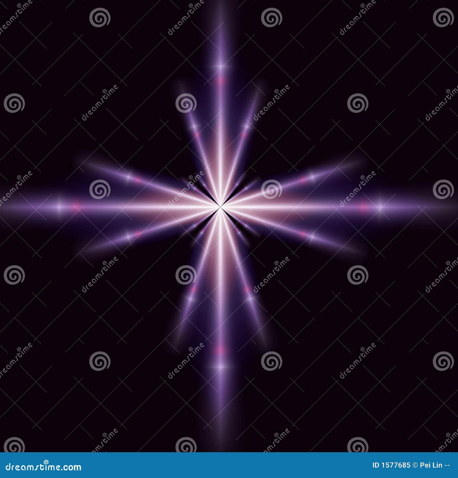 Étoile pourprée simple