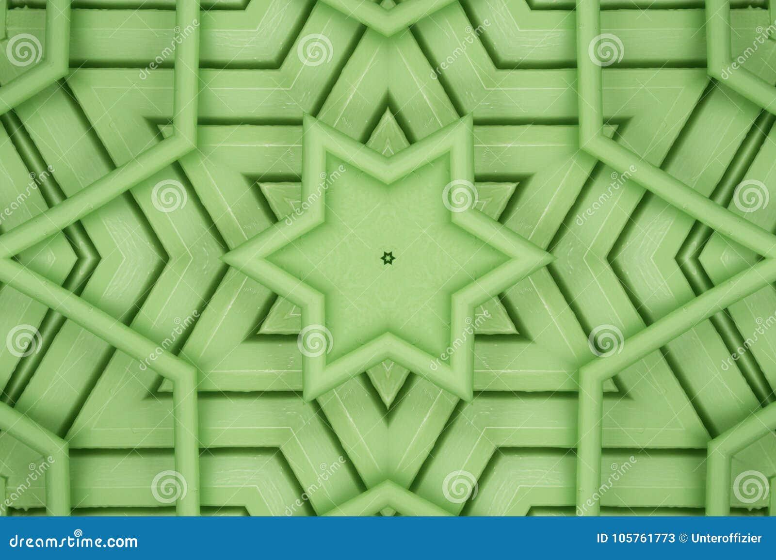 Étoile verte de hexagram