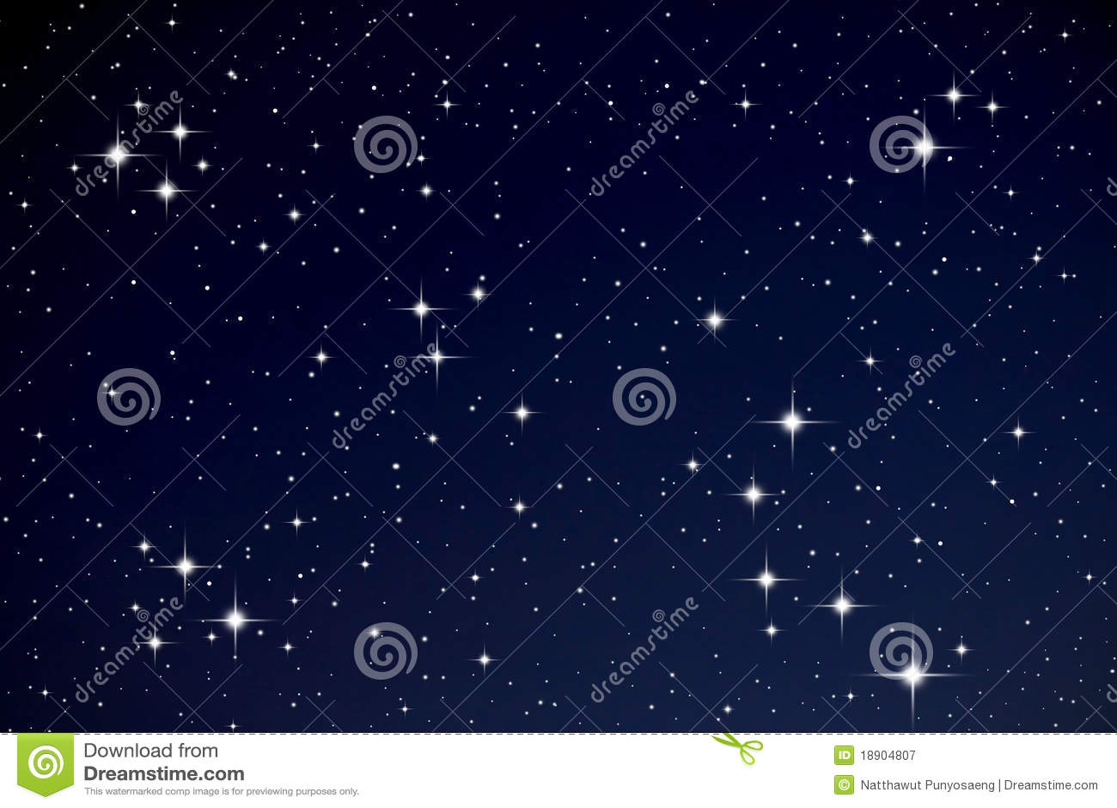 Étoiles dans le ciel de nuit