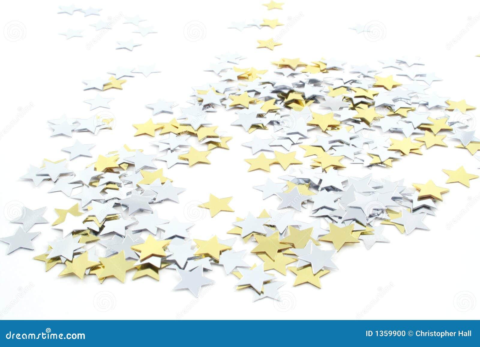Étoiles de confettis
