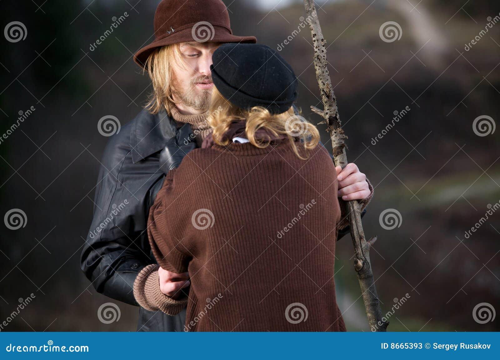 étreindre de couples rustique