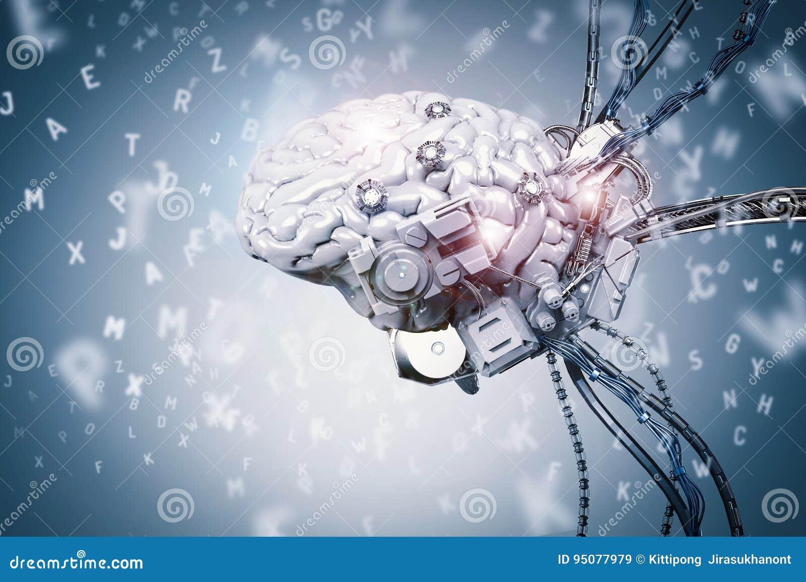 Étude de cerveau de robot