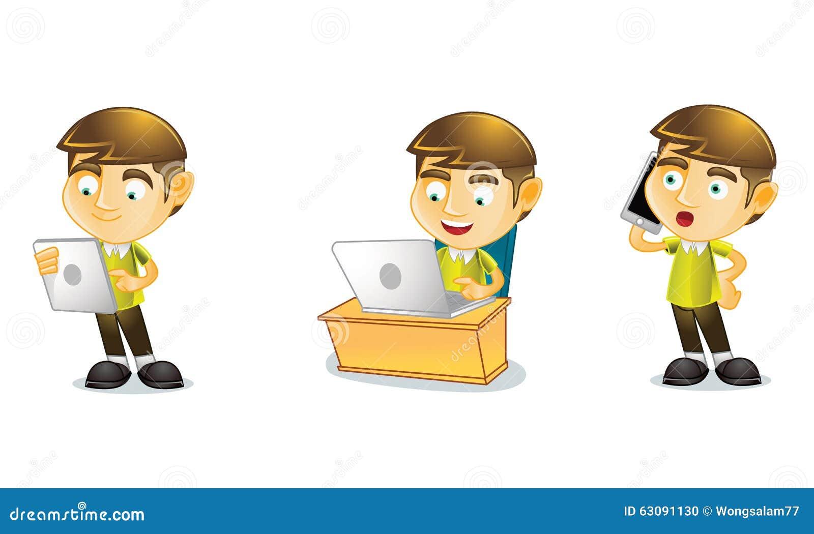 Download Étudiant 3 illustration de vecteur. Illustration du étude - 63091130