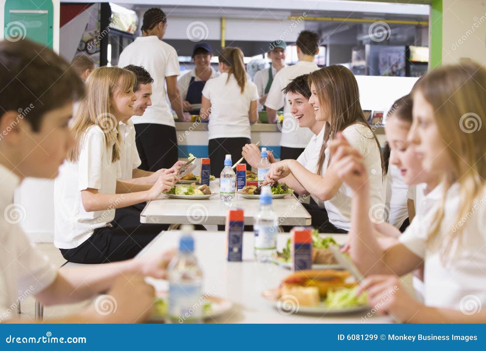 étudiants d école de cafétéria