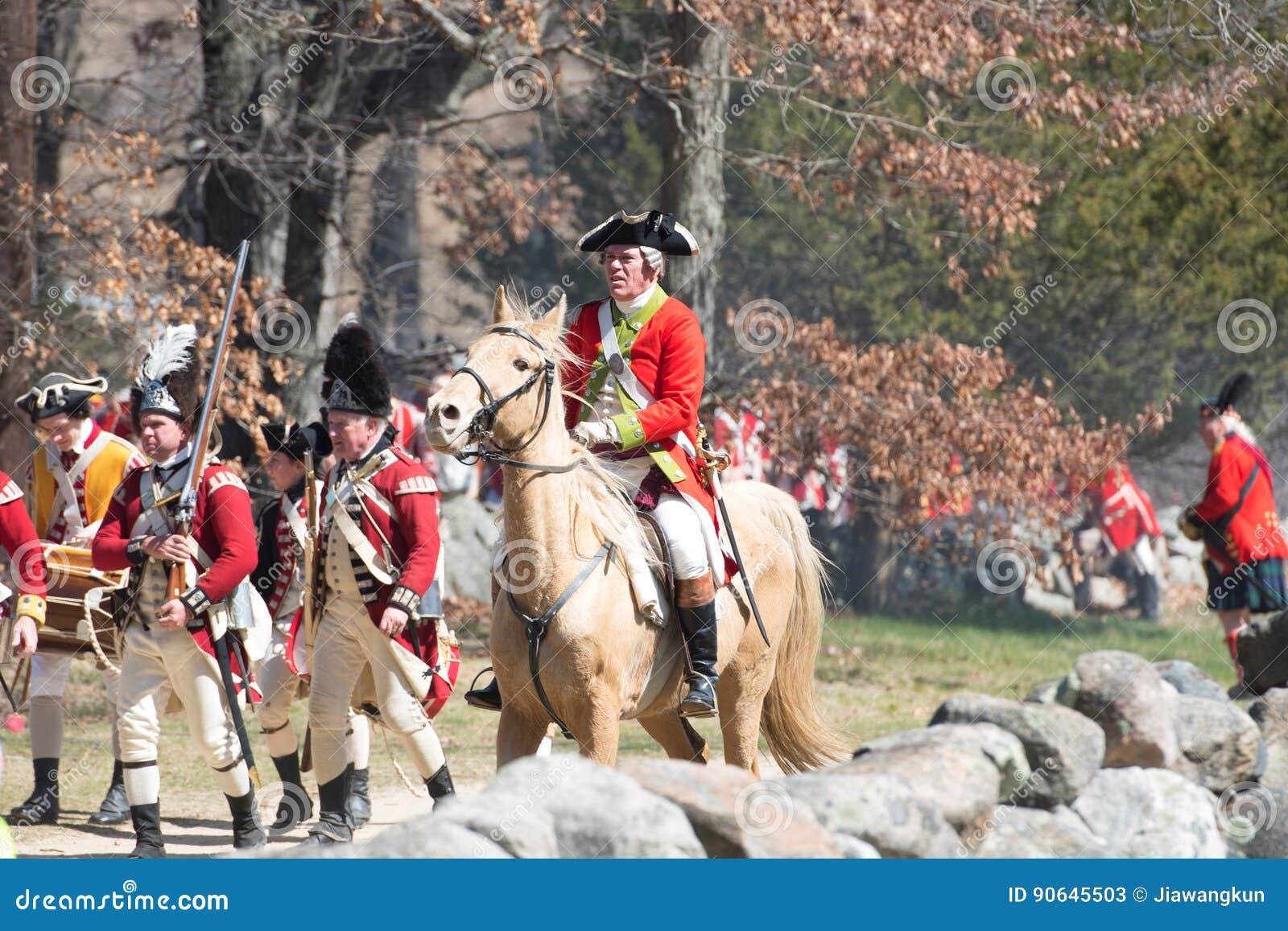 Événements historiques de reconstitution à Lexington, mA, Etats-Unis