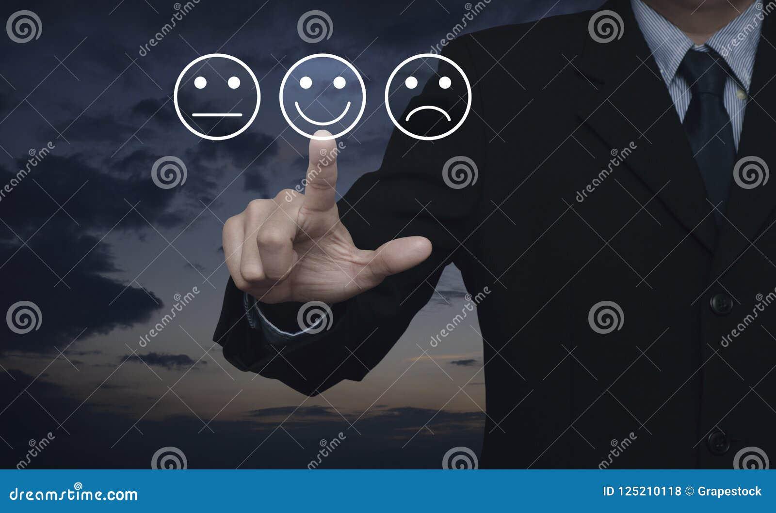 Évaluation de service de client professionnel et concept d estimation de rétroaction
