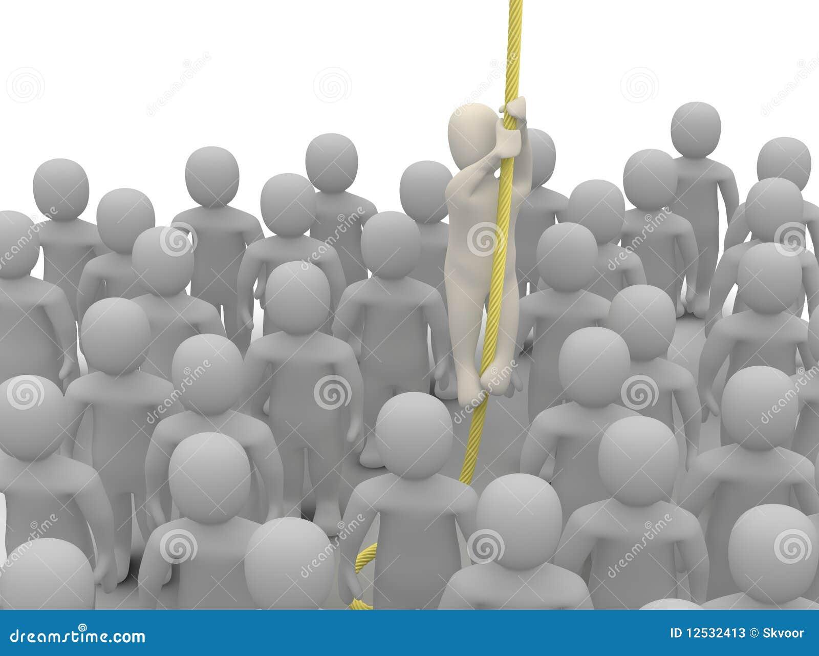 Évasion de la foule