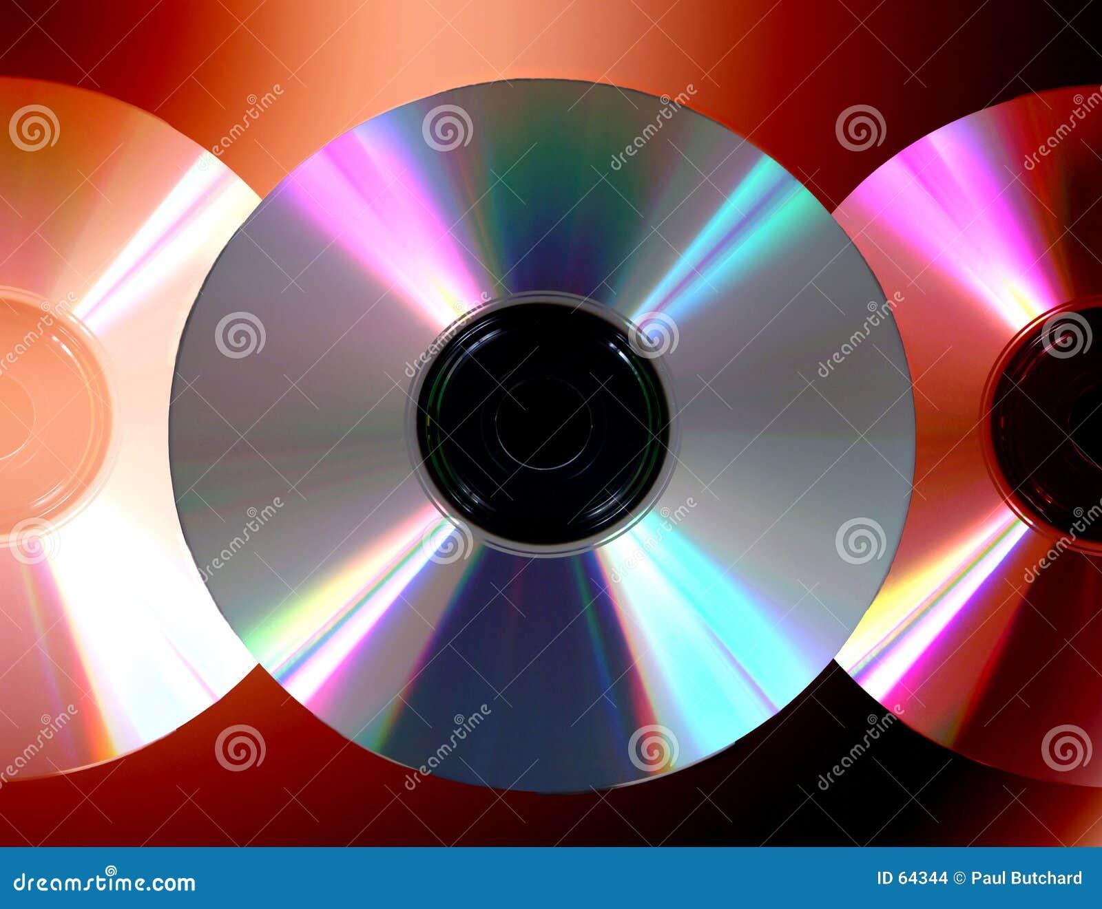 Éventail des disques compacts