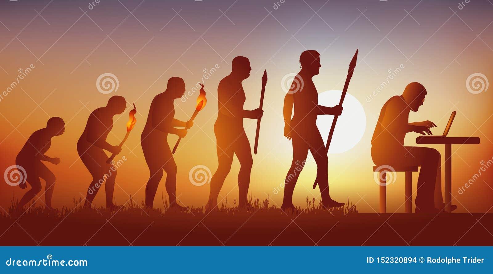 Évolution de l humanité vers un monde hyperconnected mené par les réseaux et les ordinateurs sociaux