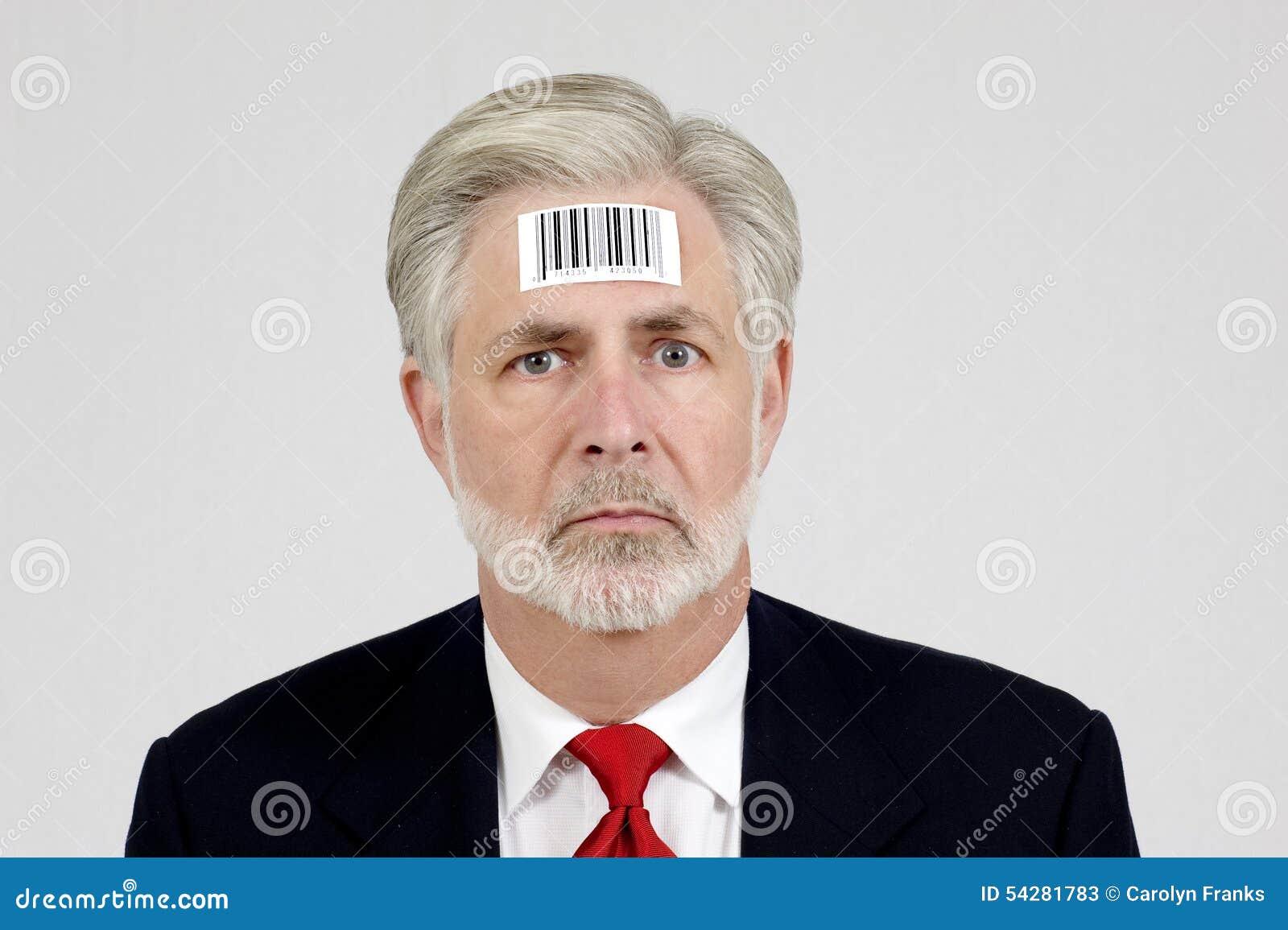 Être humain avec le code barres