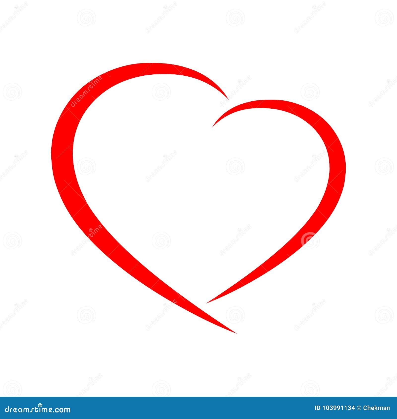 Ícone abstrato do coração Ilustração do vetor