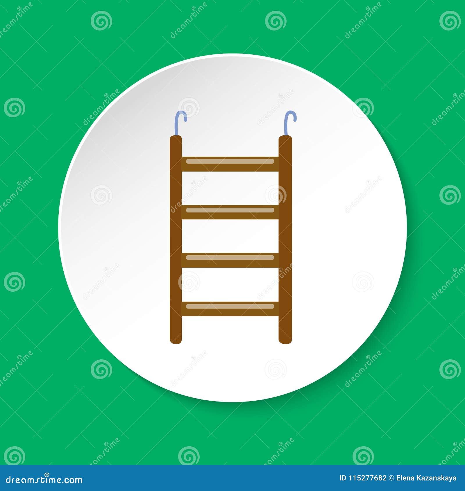 Ícone acessório da escada do pássaro no estilo liso
