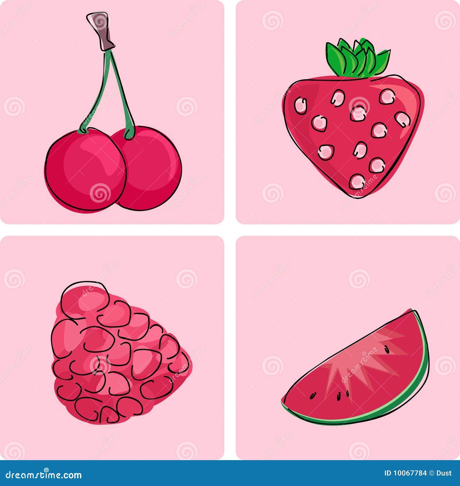 Ícone ajustado - frutas vermelhas