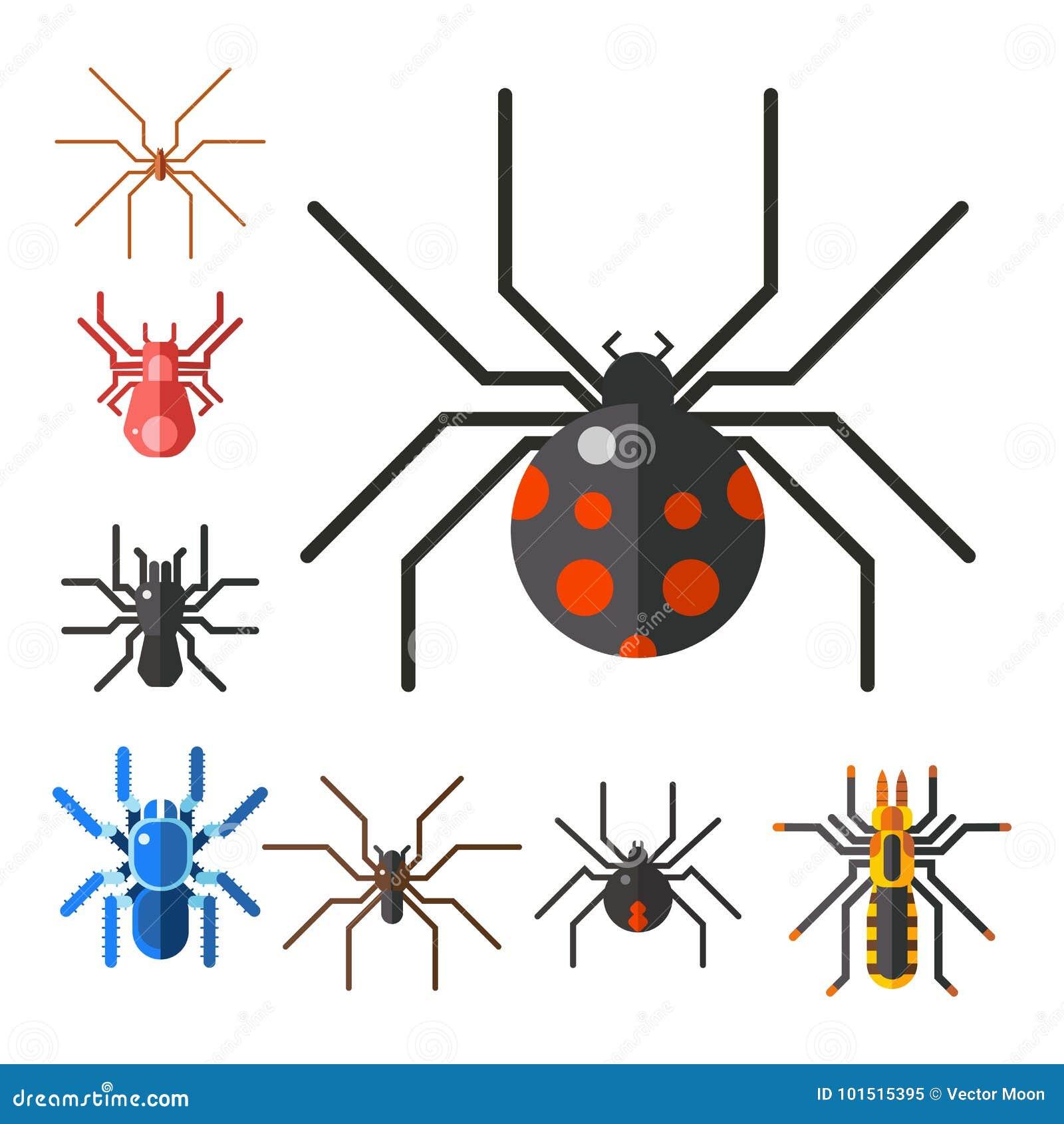 Ícone animal assustador liso gráfico do vetor do Dia das Bruxas do horror do perigo do inseto da natureza do projeto do medo do a
