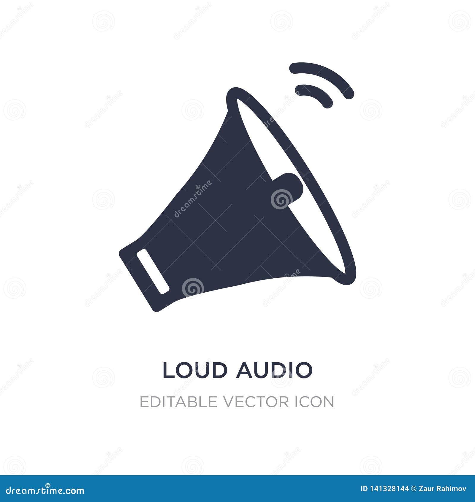 ícone audio alto no fundo branco Ilustração simples do elemento do conceito de UI