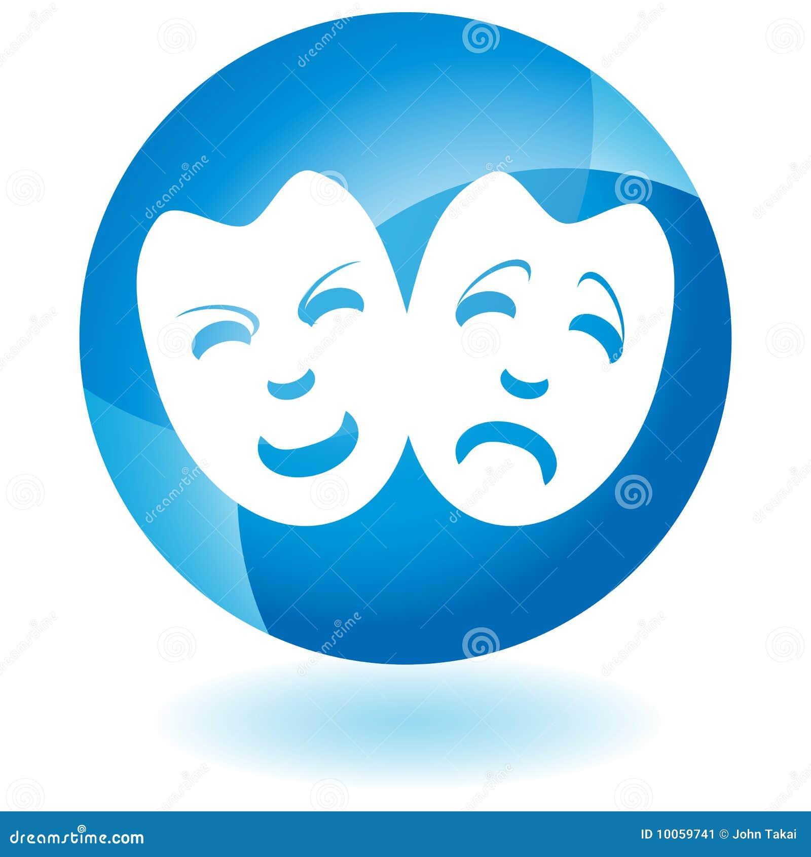 Ícone azul - máscaras