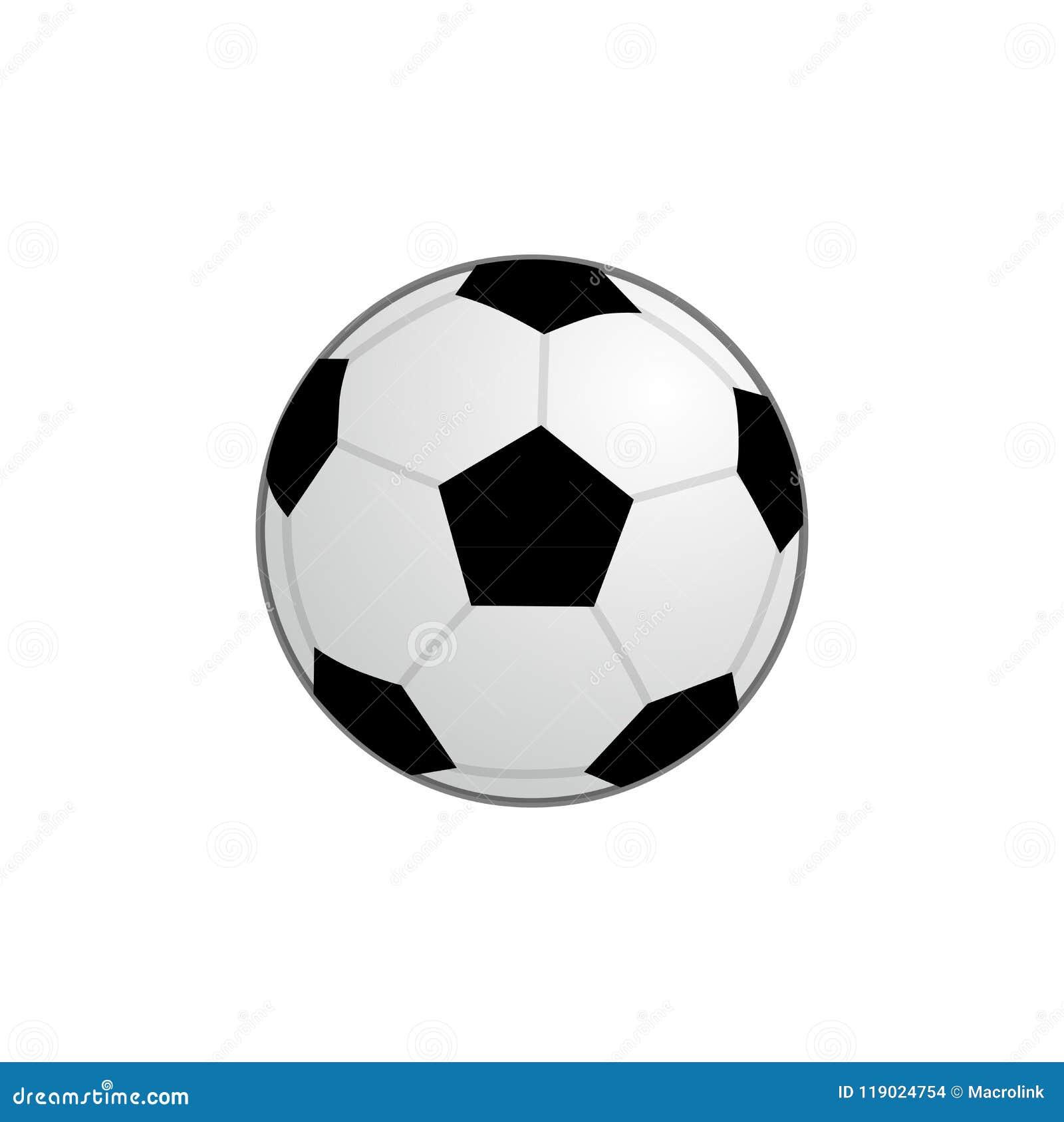 Ícone básico da bola do futebol - símbolo da equipe e do esporte Vector a  ilustração de Clipart isolada no fundo branco 282a15c3edb01
