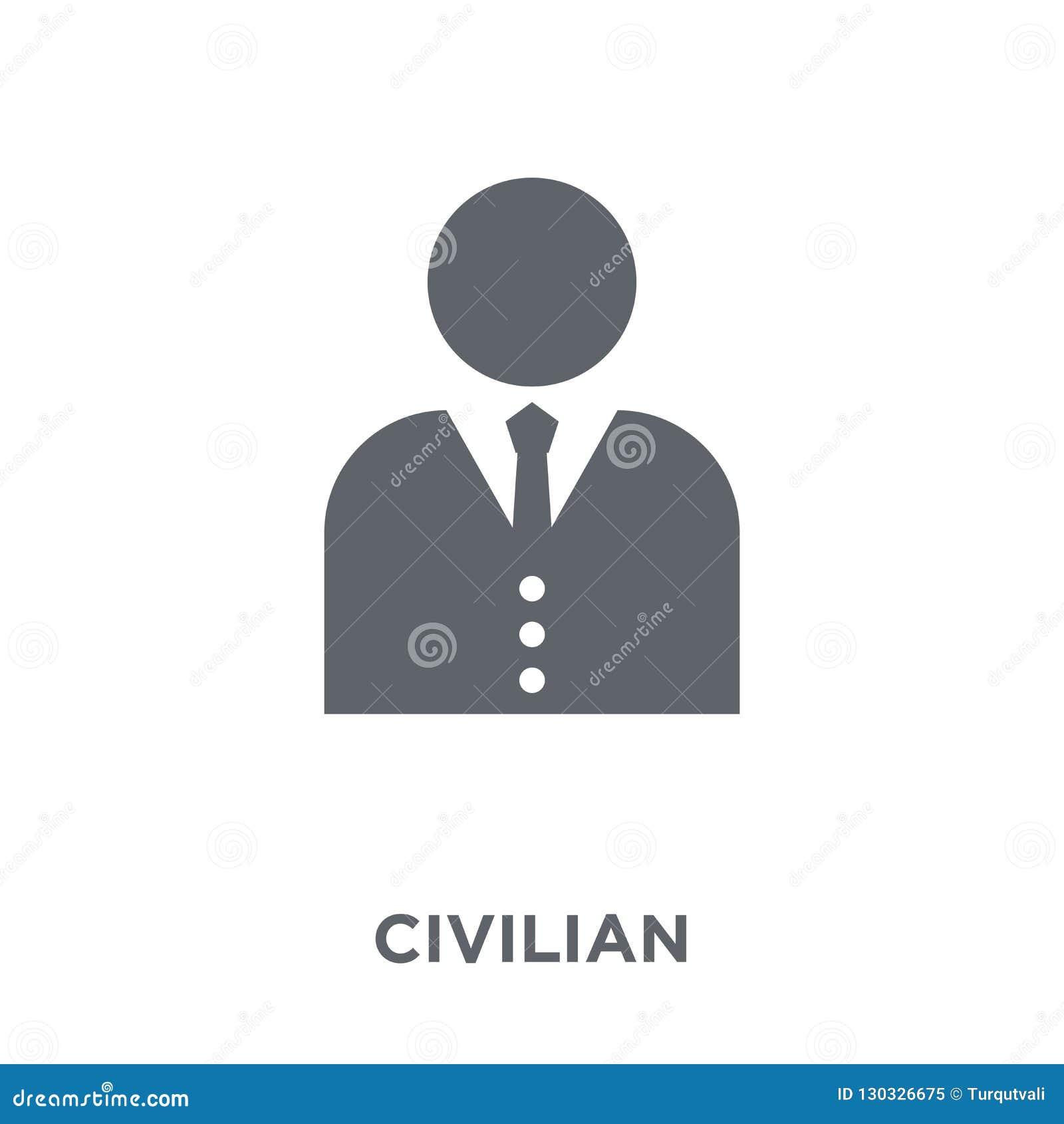 ícone civil da coleção do exército