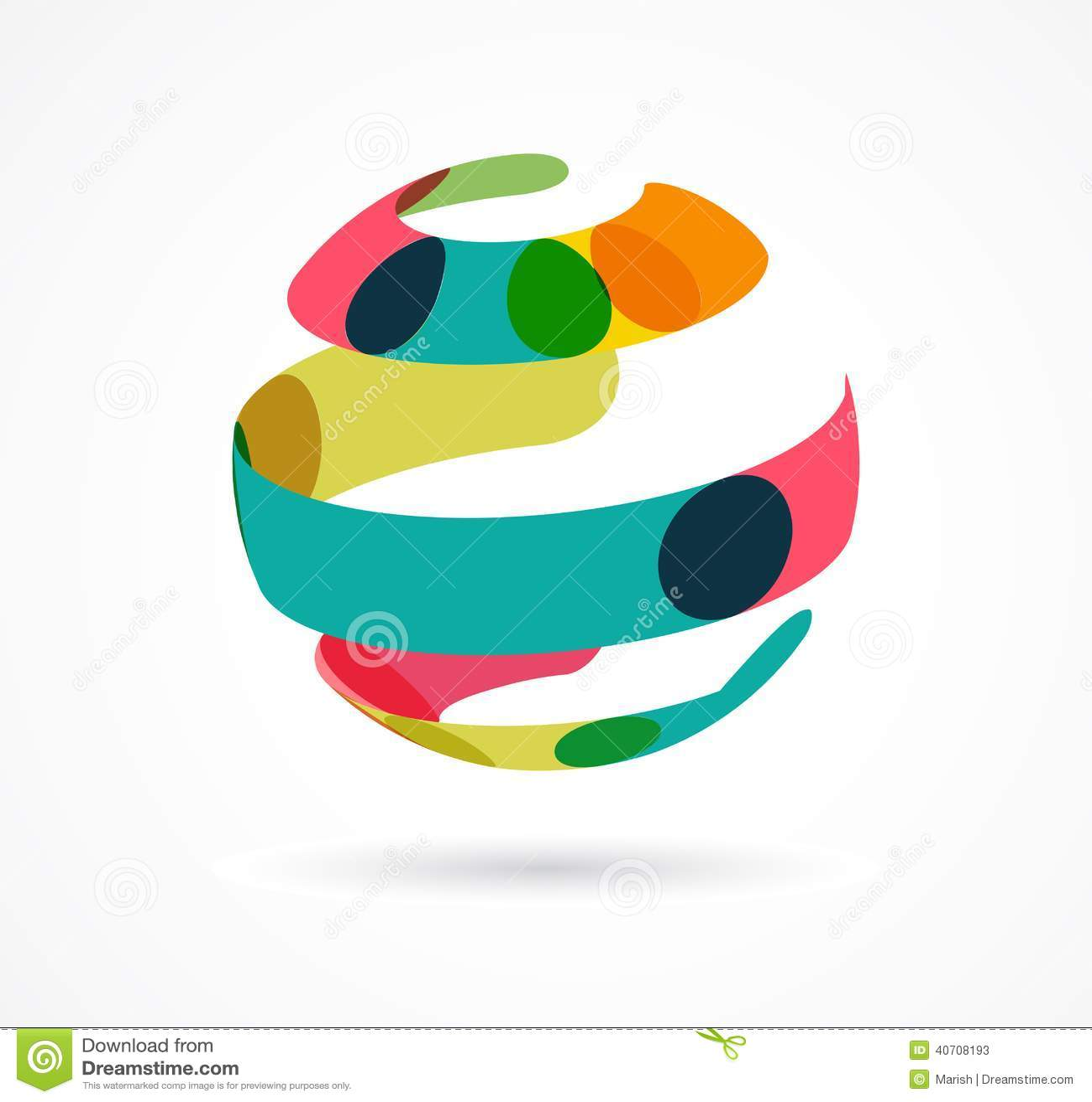 Ícone colorido abstrato do negócio do globo