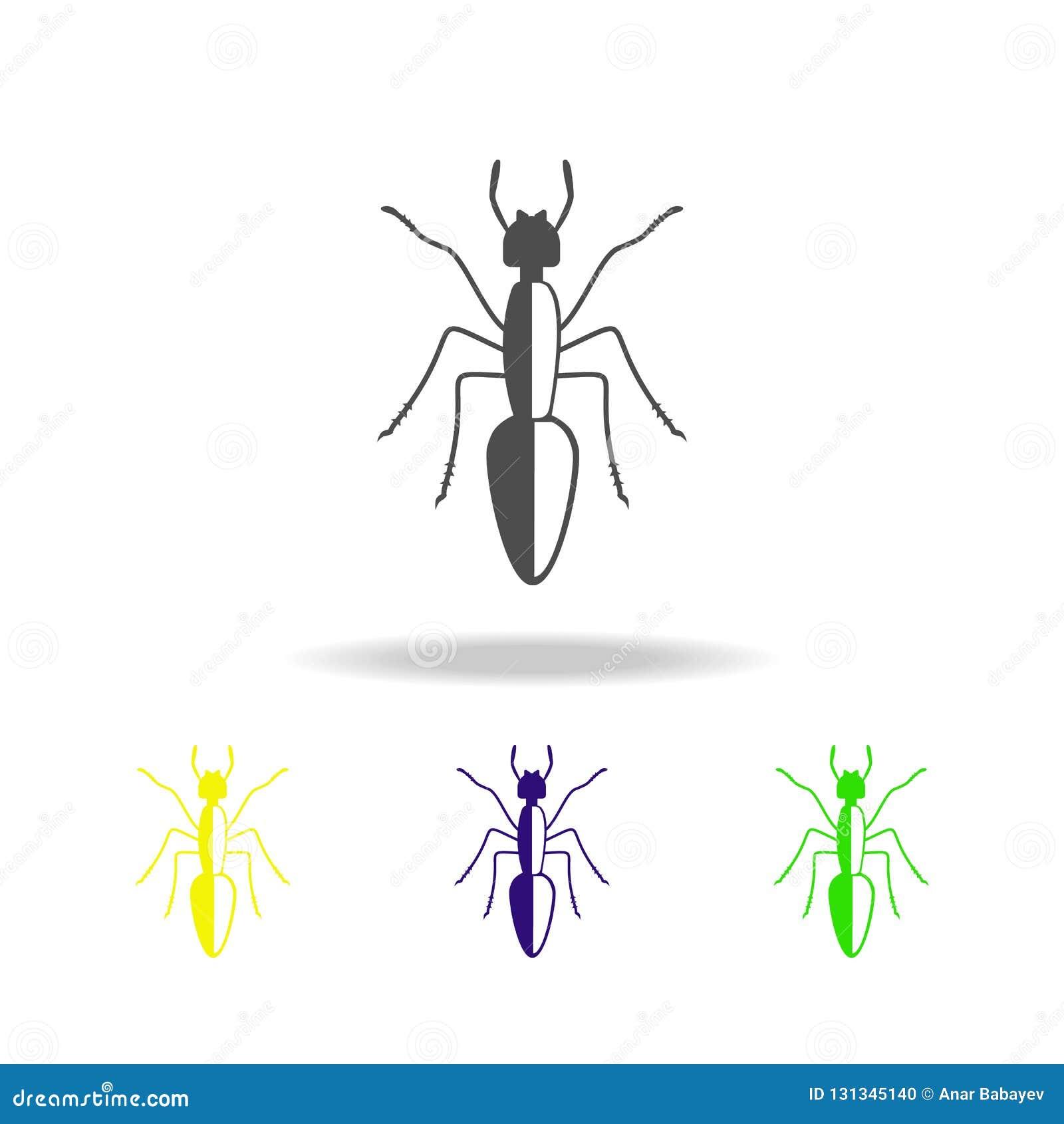 ícone colorido da formiga Elementos do ícone colorido do inseto Os sinais e o ícone da coleção do símbolo podem ser usados para a