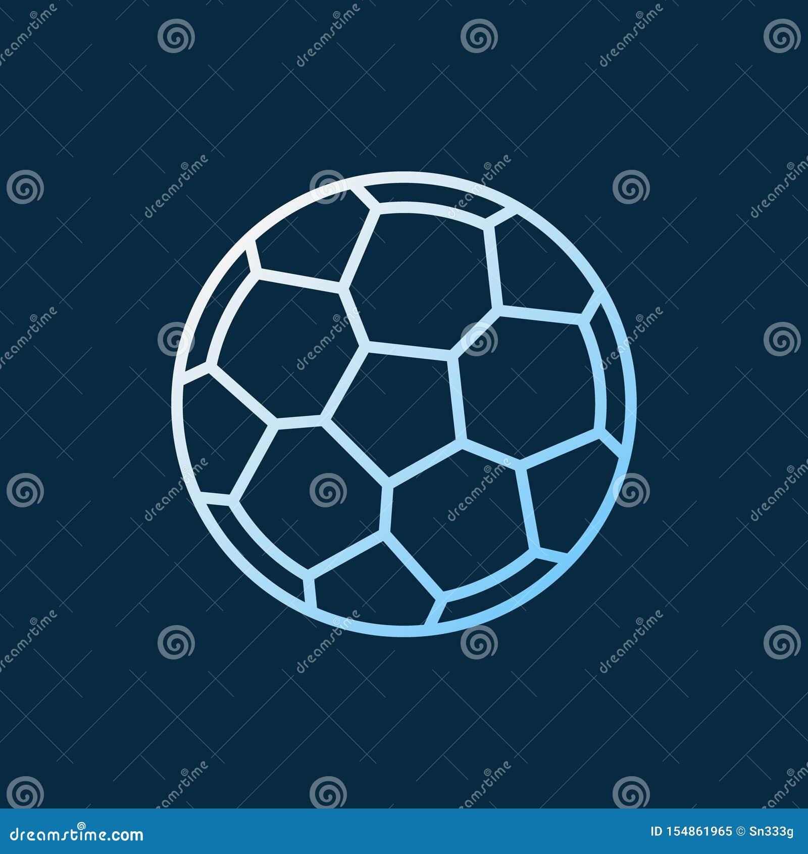 Ícone colorido linear do vetor da bola de futebol S?mbolo da bola do futebol