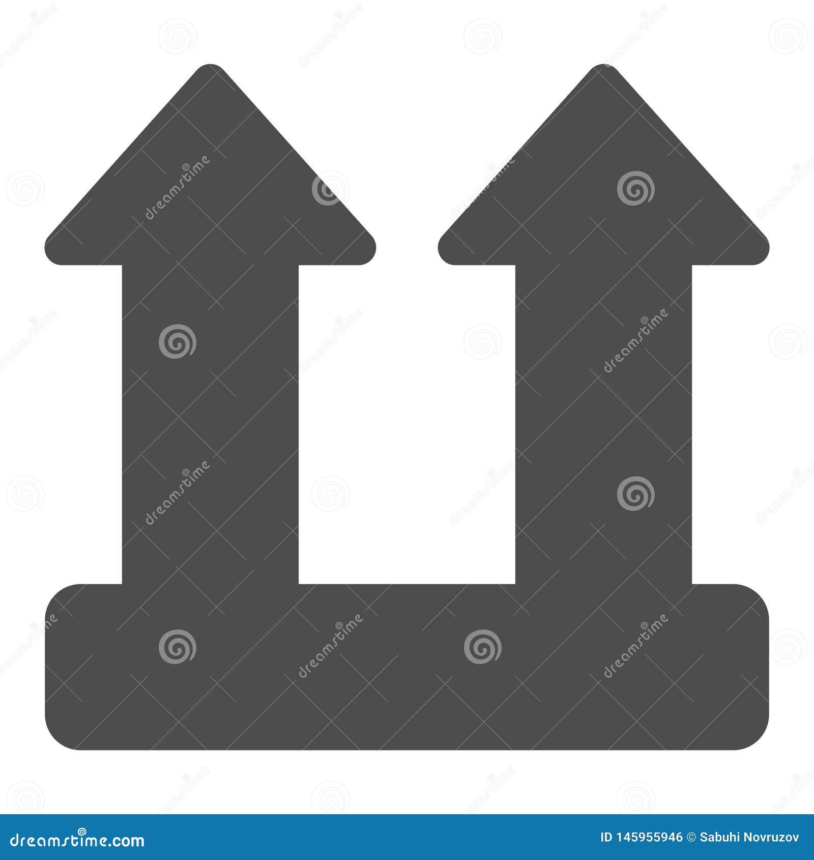 Ícone contínuo do sinal da carga da carga Ilustra??o do vetor do s?mbolo da seta da carga isolada no branco Projeto do estilo do