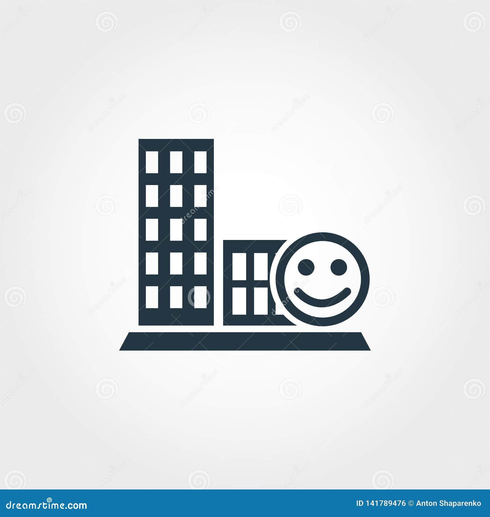 Ícone criativo da sociabilidade Projeto monocromático do estilo da coleção dos ícones do urbanismo Ícone da sociabilidade para o