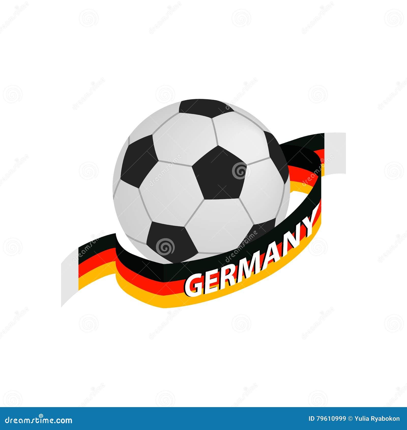Ícone 3d isométrico de Alemanha da equipa de futebol