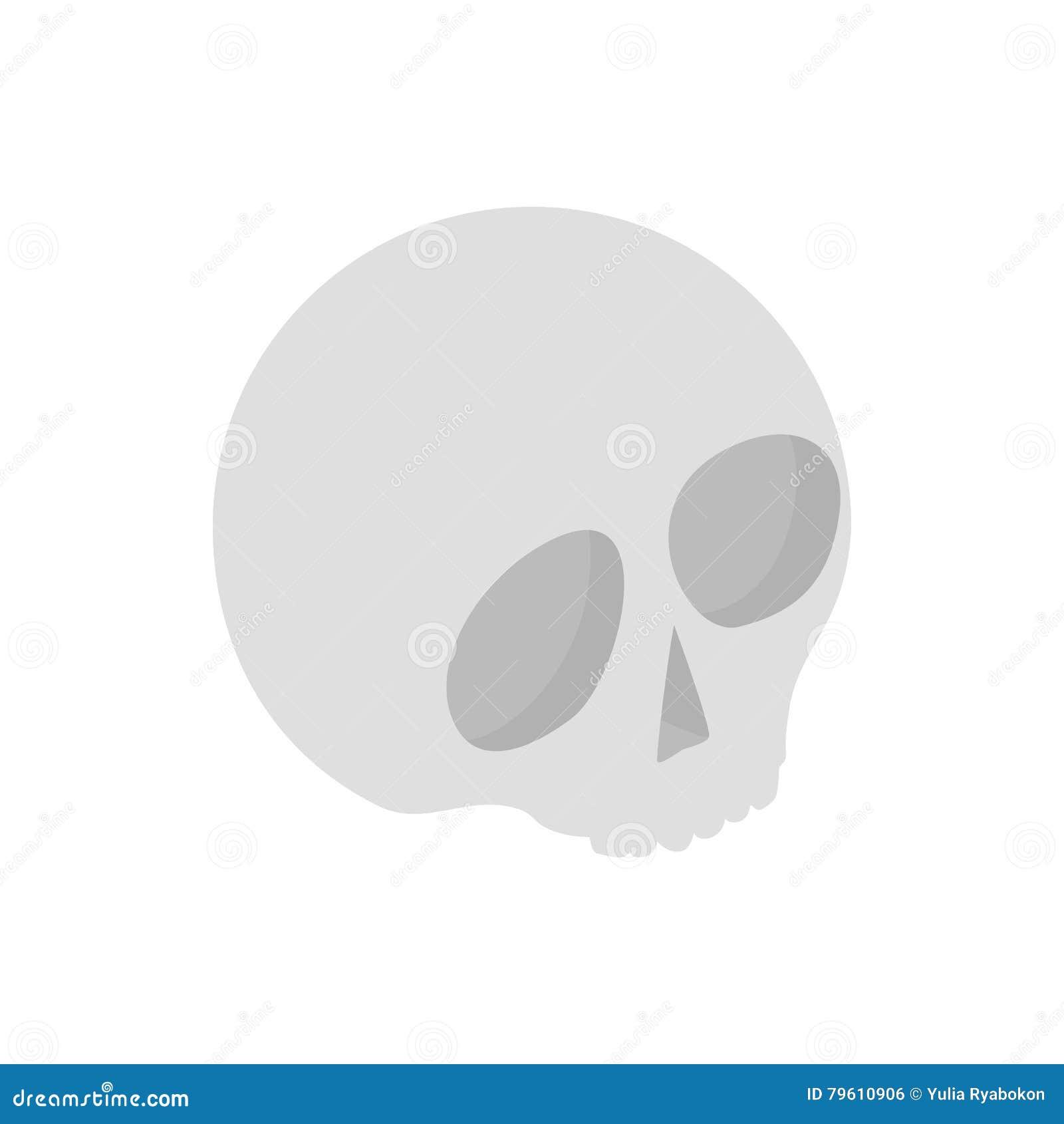 Ícone 3d isométrico do crânio humano