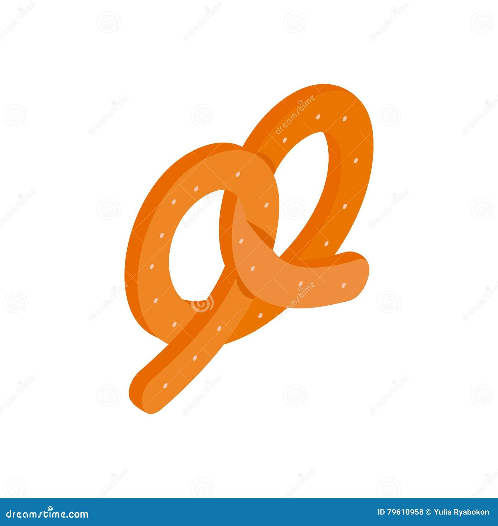 Ícone 3d isométrico do pretzel
